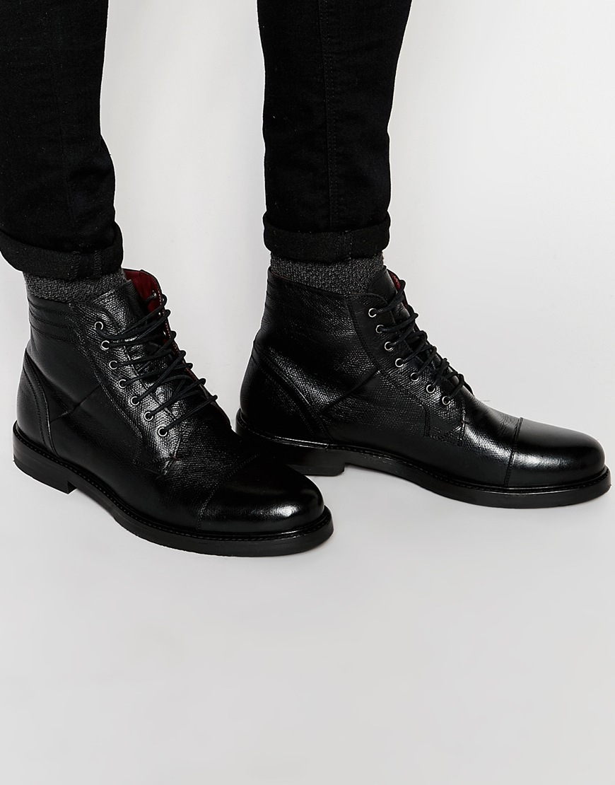 Lyst Ted Baker Musken Lace Up Boots In Black For Men