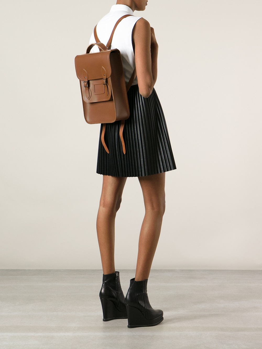 493a474f6 Cambridge Satchel Company Raw Cut Backpack in Brown - Lyst