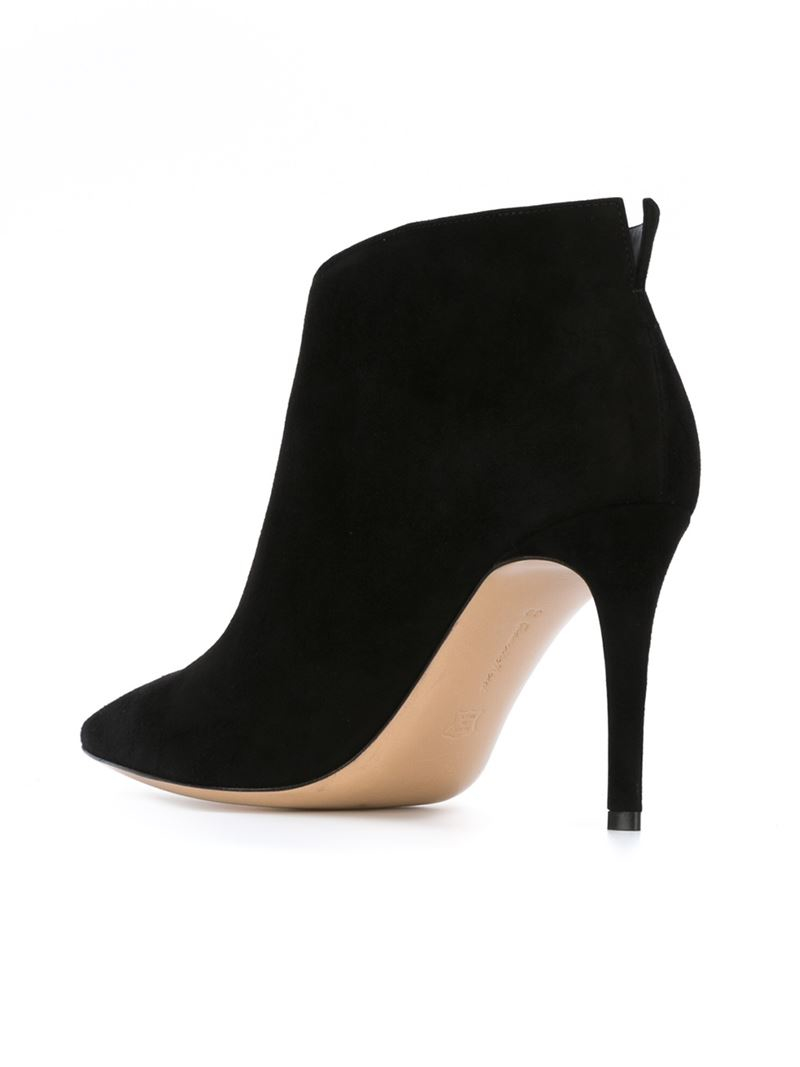 Gianvito rossi Stiletto-Heeled Leather Ankle Boots in Black   Lyst