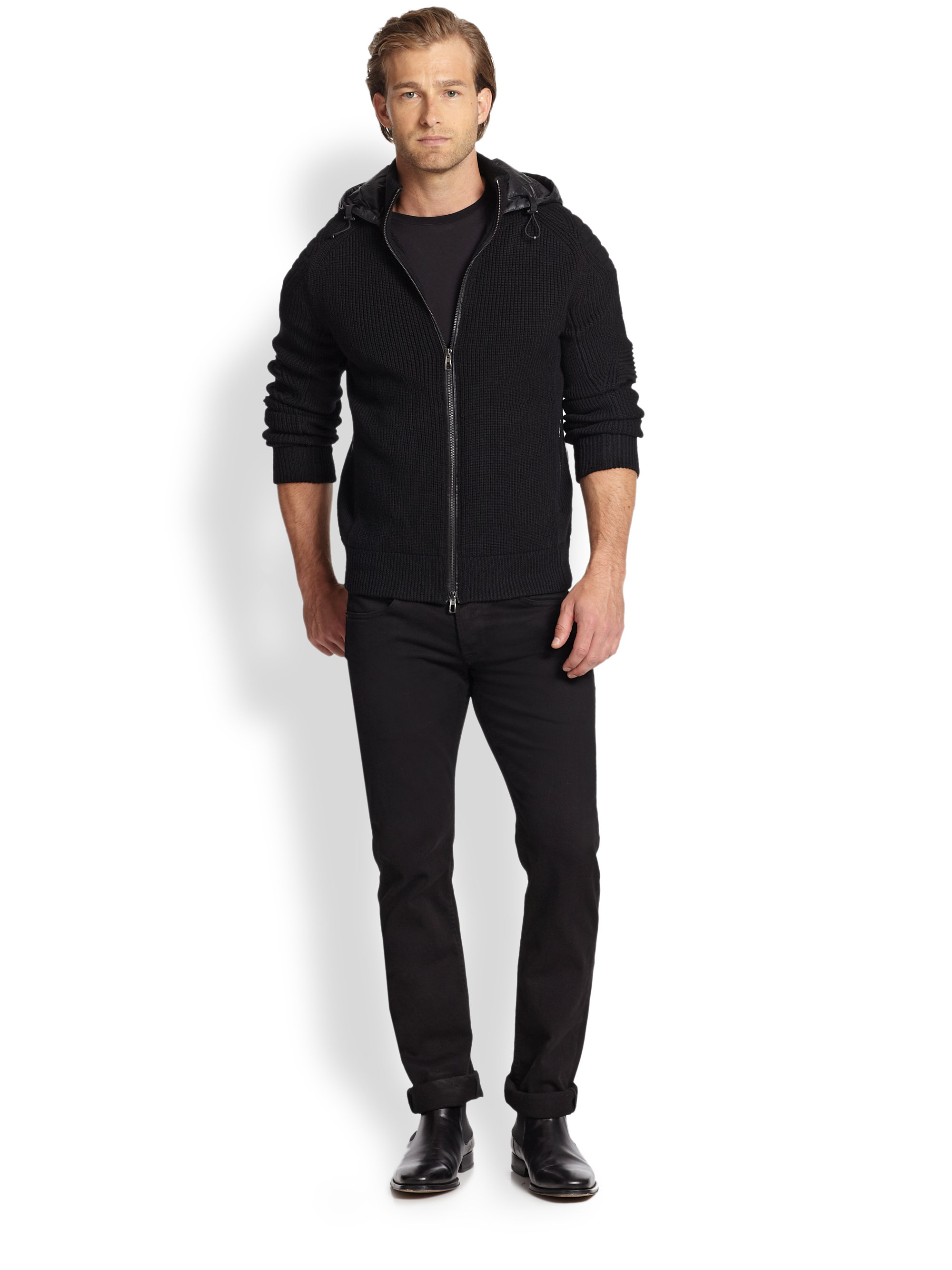 Polo Ralph Lauren French-Rib Full-Zip Black Hoodie
