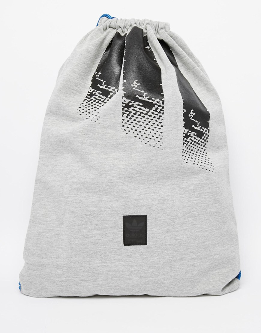 03130b1211a0 Lyst - adidas Originals Drawstring Backpack in Gray for Men
