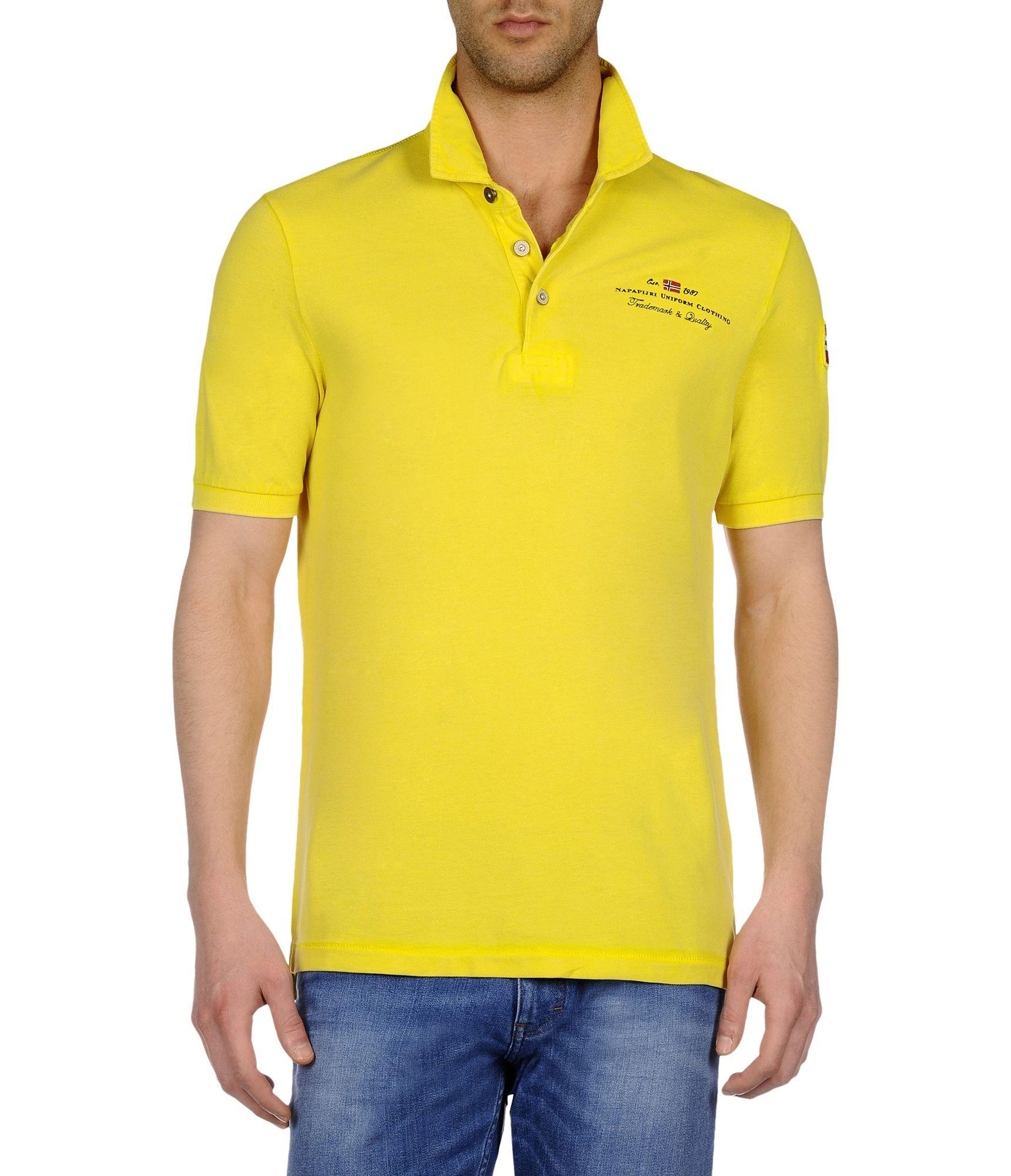Napapijri Yellow Polo Shirt For Men Lyst