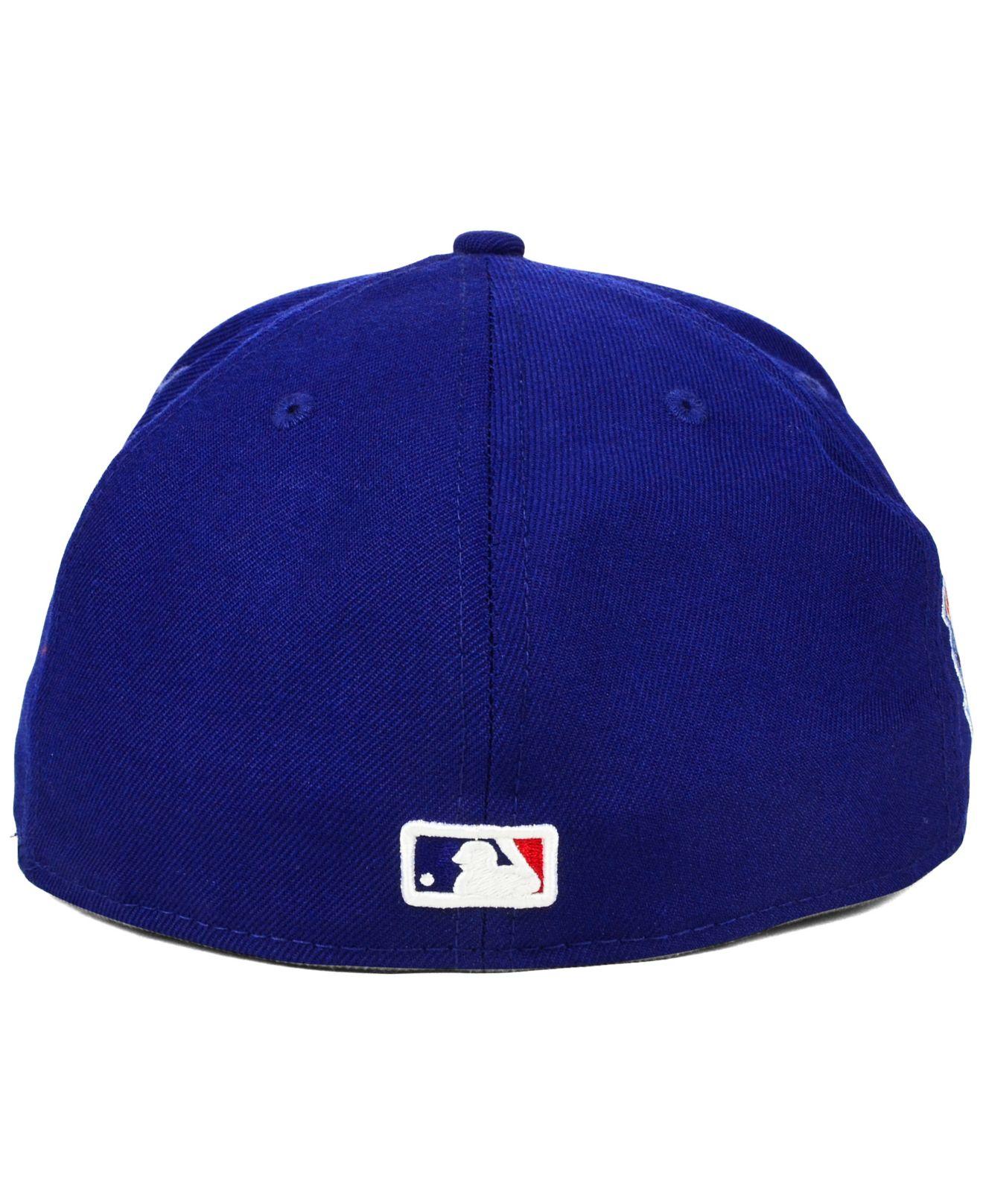 wholesale dealer 5b01e 99e94 ... australia lyst ktz los angeles dodgers anniversary patch 59fifty cap in  blue 8085c d0830