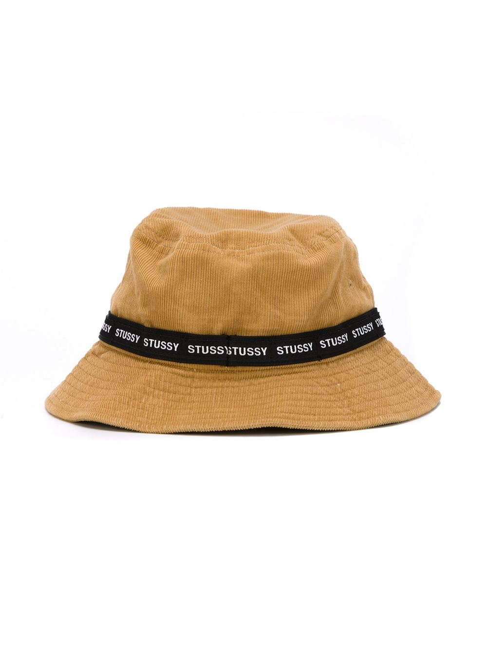 Lyst - Stussy Logo Band Corduroy Bucket Hat in Natural for Men 144bae83e9f