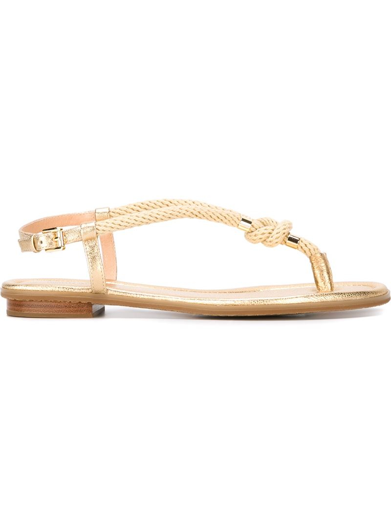 396c8dce2663 Michael Michael Kors Rope Sandals in Natural - Lyst