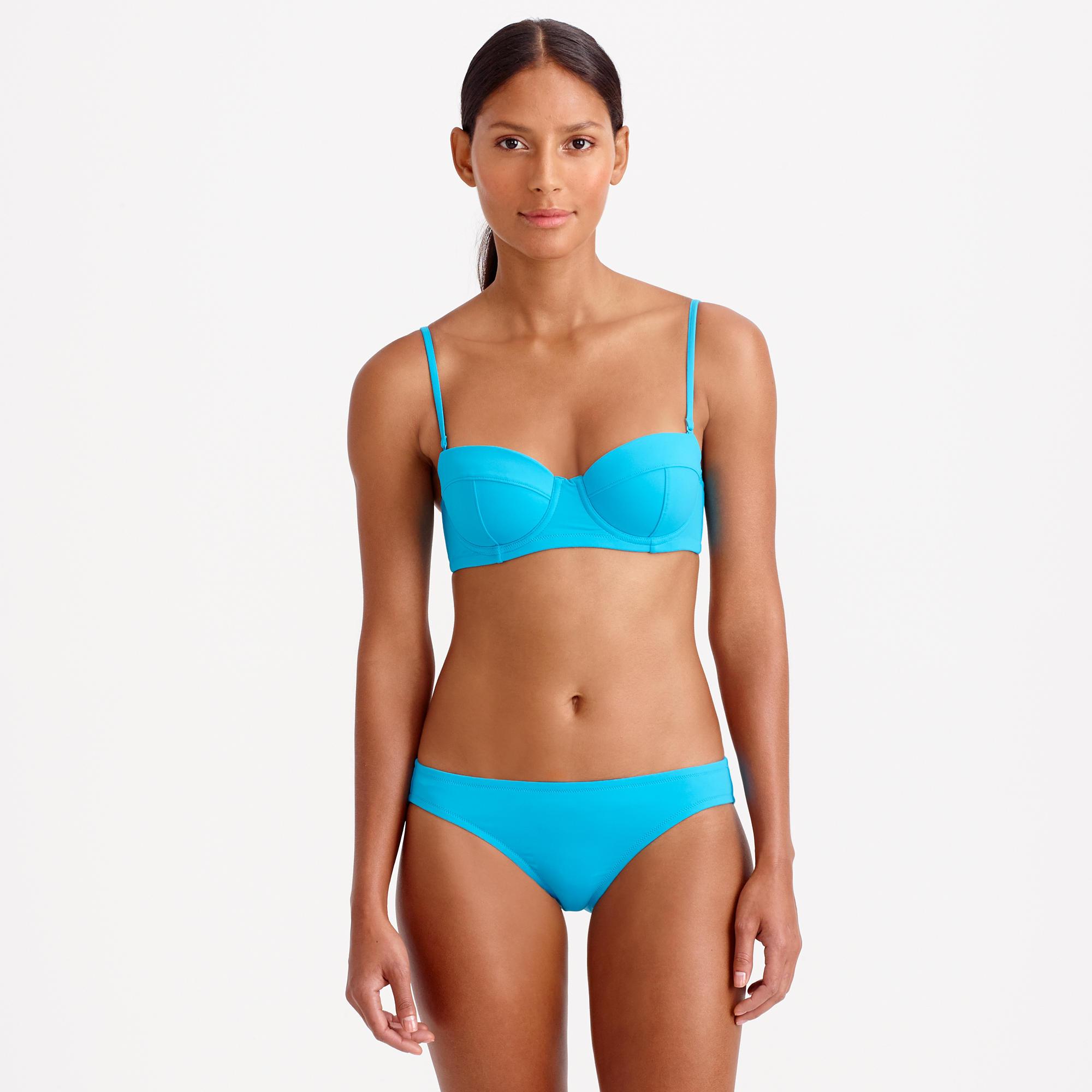 1426a17b59273 Lyst - J.Crew Dd-cup Italian Matte Underwire Bikini Top in Blue