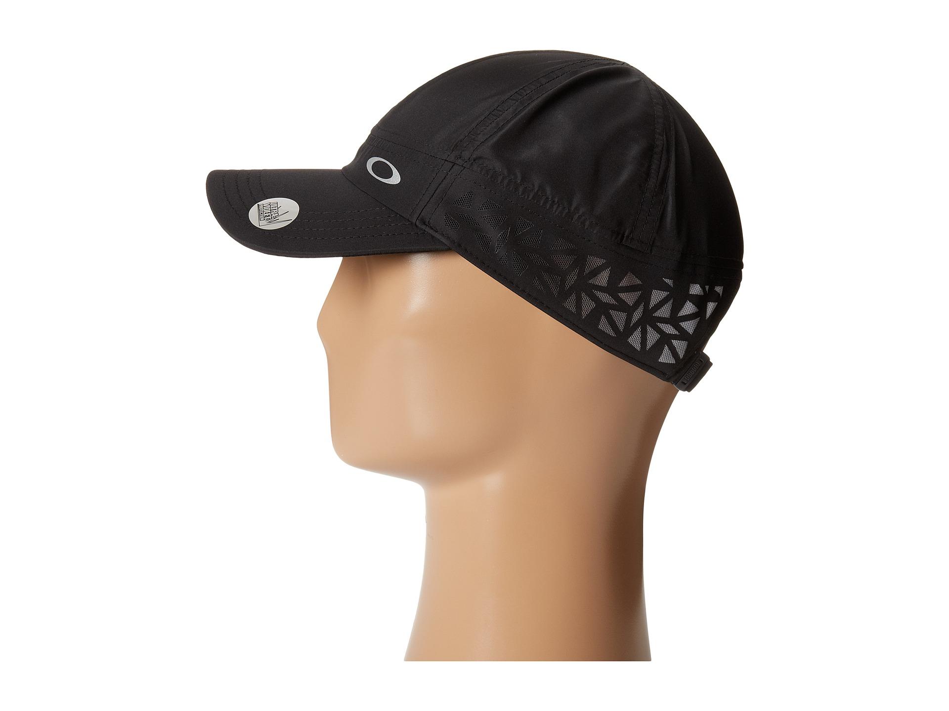 9068c8511255c ... canada lyst oakley performance running hat in black 8a948 09aae