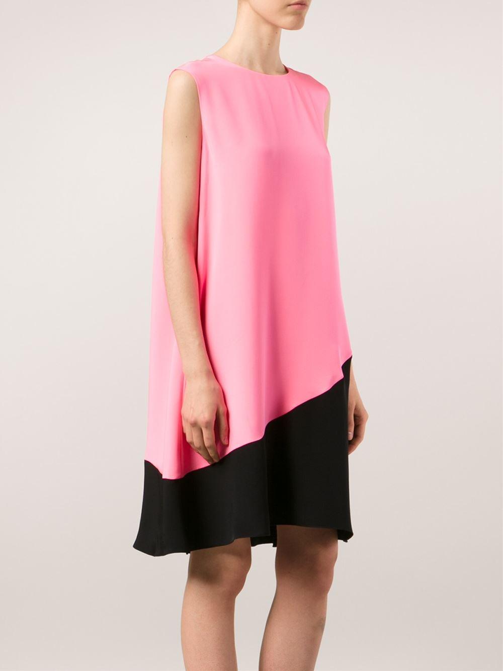 roksanda colour block shift dress in pink lyst. Black Bedroom Furniture Sets. Home Design Ideas