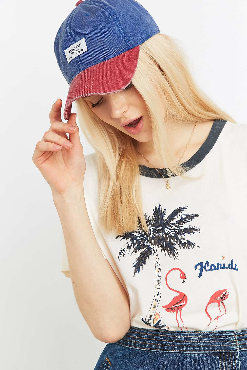 f6553030329 Reason Curved Baseball Cap in Red - Lyst