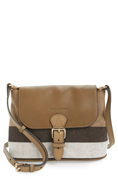 56846d083db8 Lyst - Burberry Small Gowan Canvas and Leather Bag in Brown
