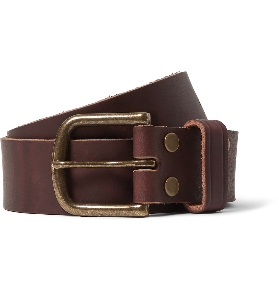 jean shop brown 4cm leather belt in brown for lyst