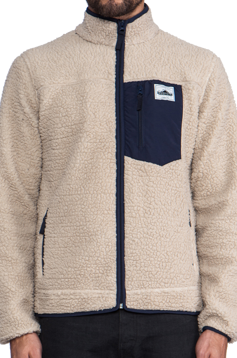 Penfield Lavic Pile Fleece Jacket in Cream in Natural for Men | Lyst