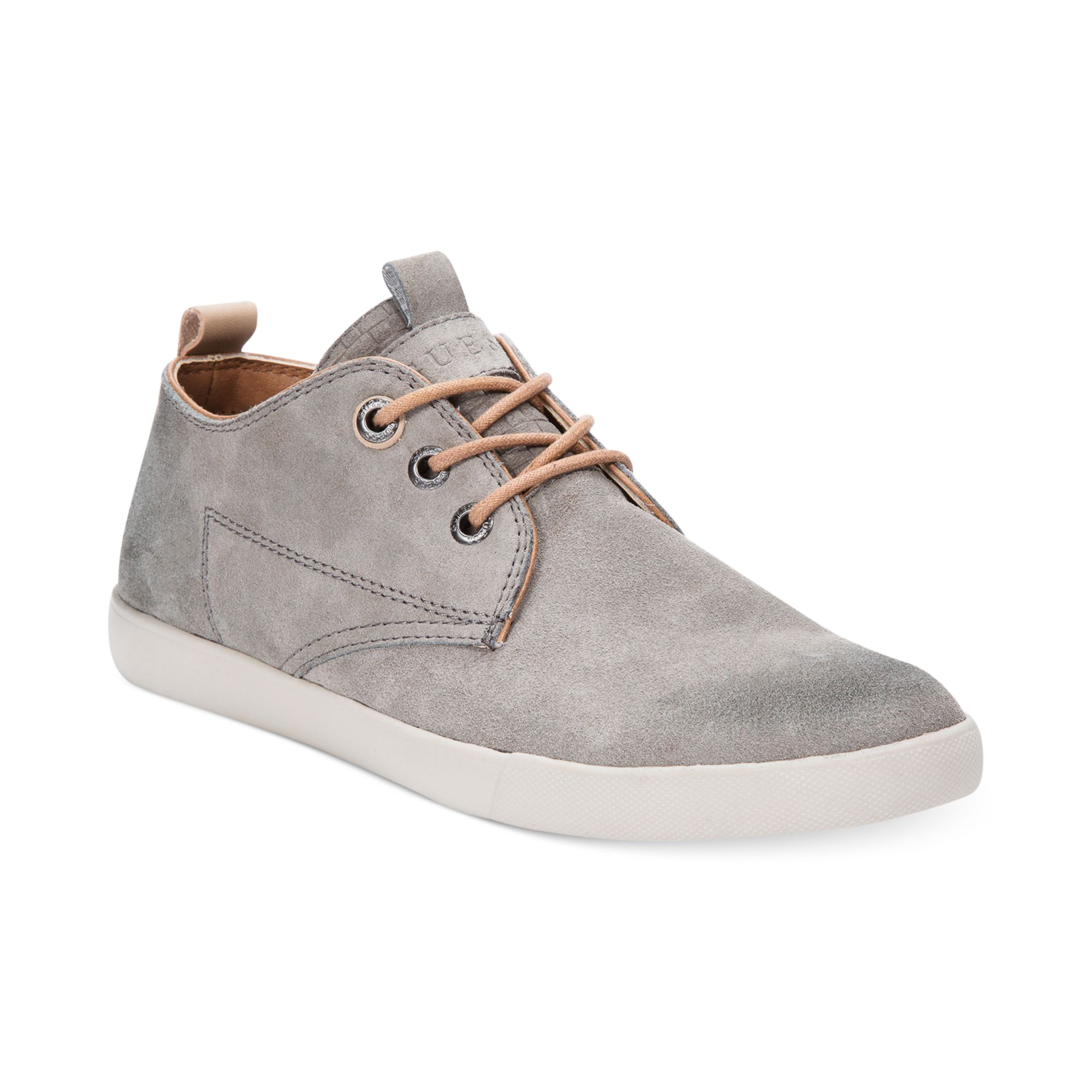guess jenison casual laceup sneakers in gray for lyst