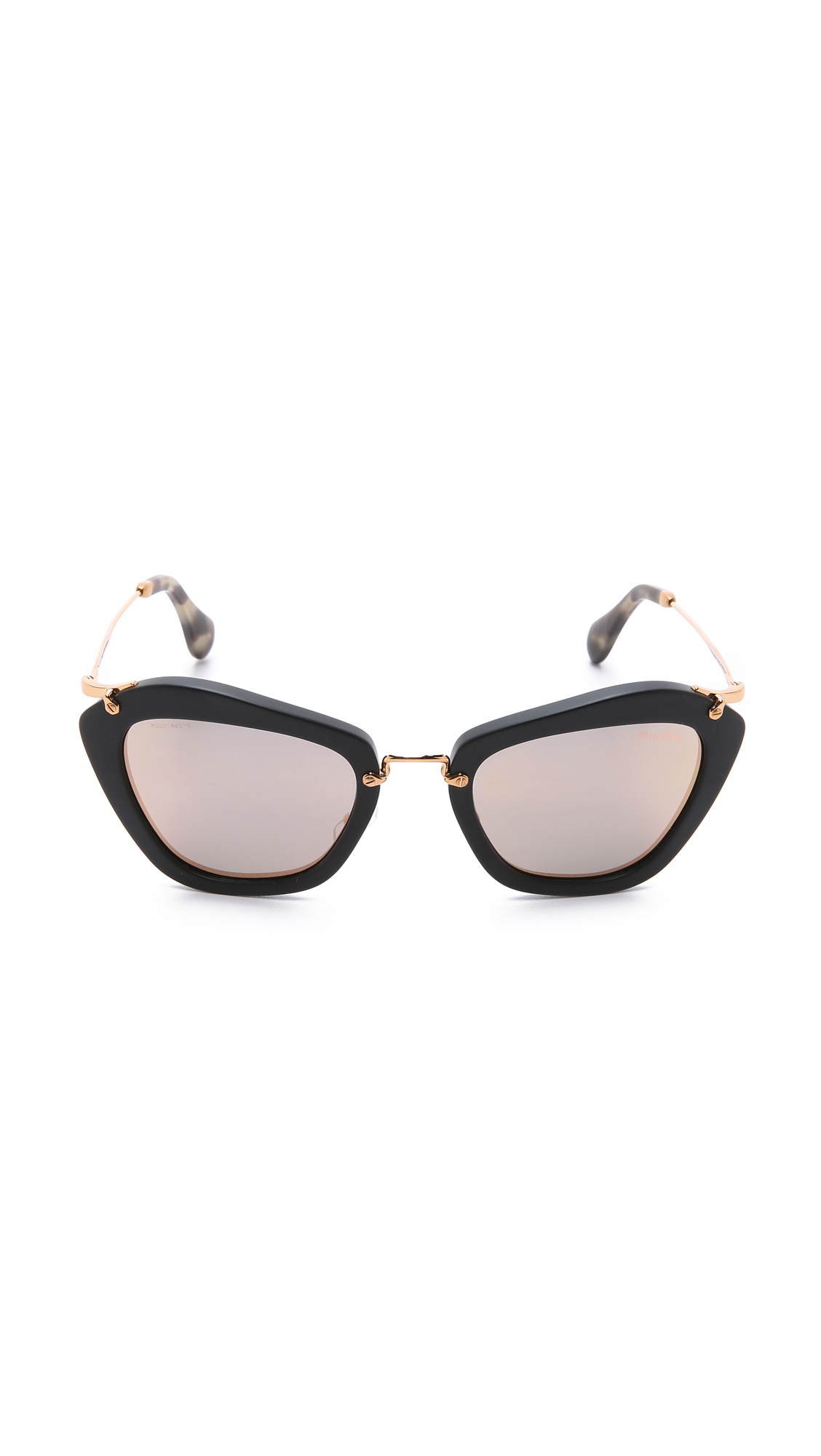 6262a4bb8b739 Miu Miu Sunglasses Cat Eye Black