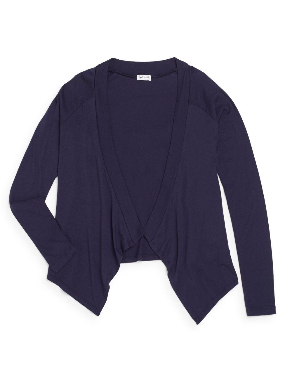 Splendid Girl'S Open-Front Cardigan in Blue | Lyst