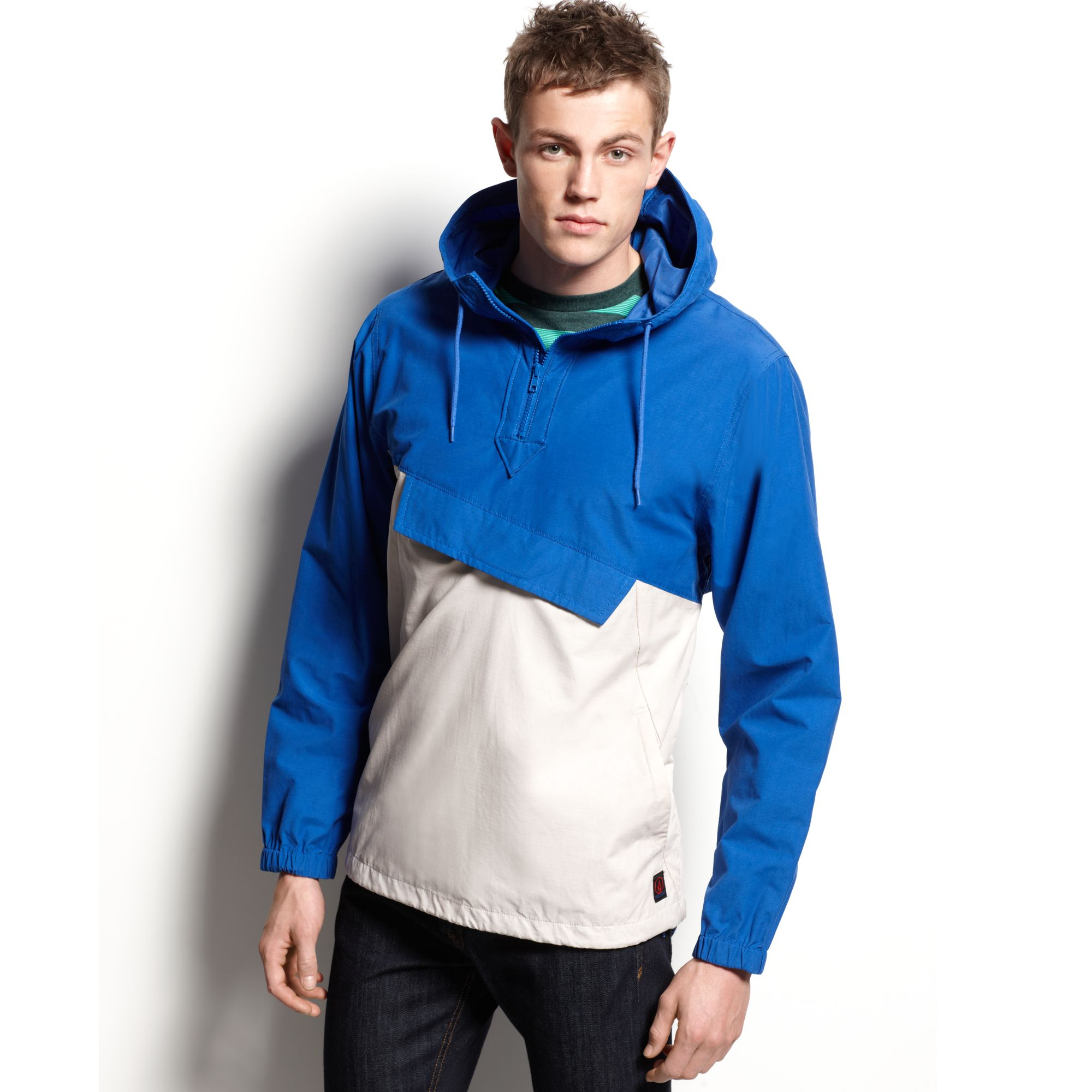 Volcom Loretto Pullover Hooded Jacket in Blue for Men | Lyst