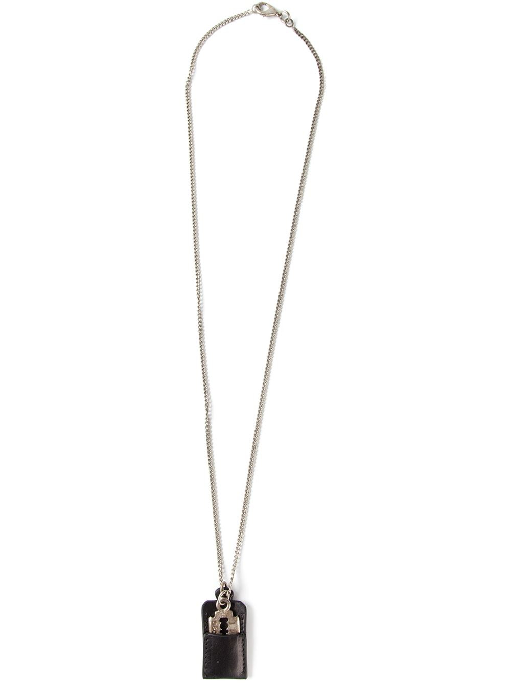 Lyst dsquared razor blade necklace in metallic for men gallery thecheapjerseys Image collections