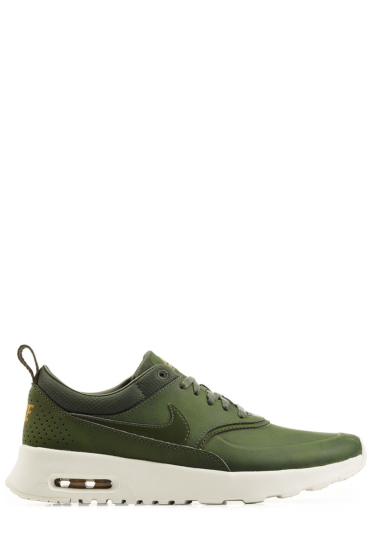 63750e110710 ... real lyst nike air max thea premium leather sneakers green in green  82ece bceac