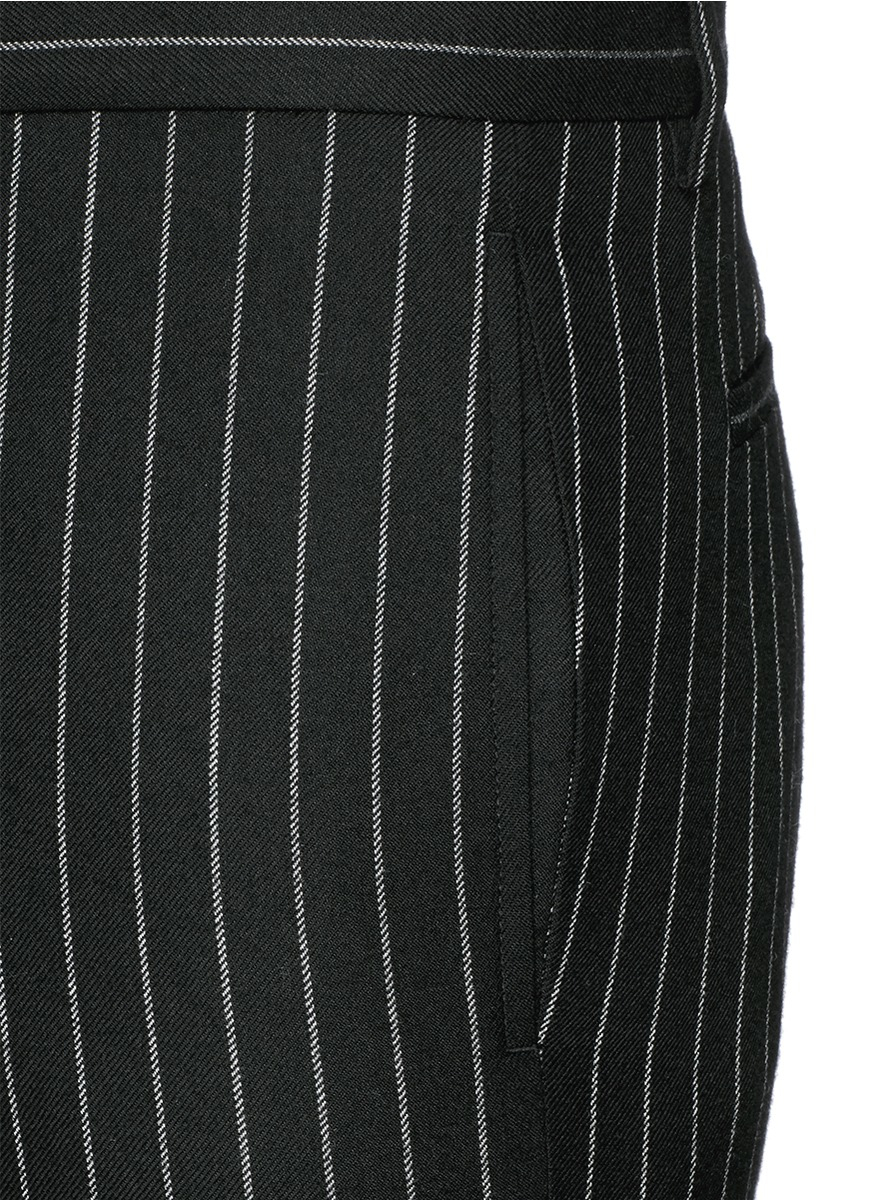 Lyst Givenchy Pinstripe Wool Pants In Black For Men