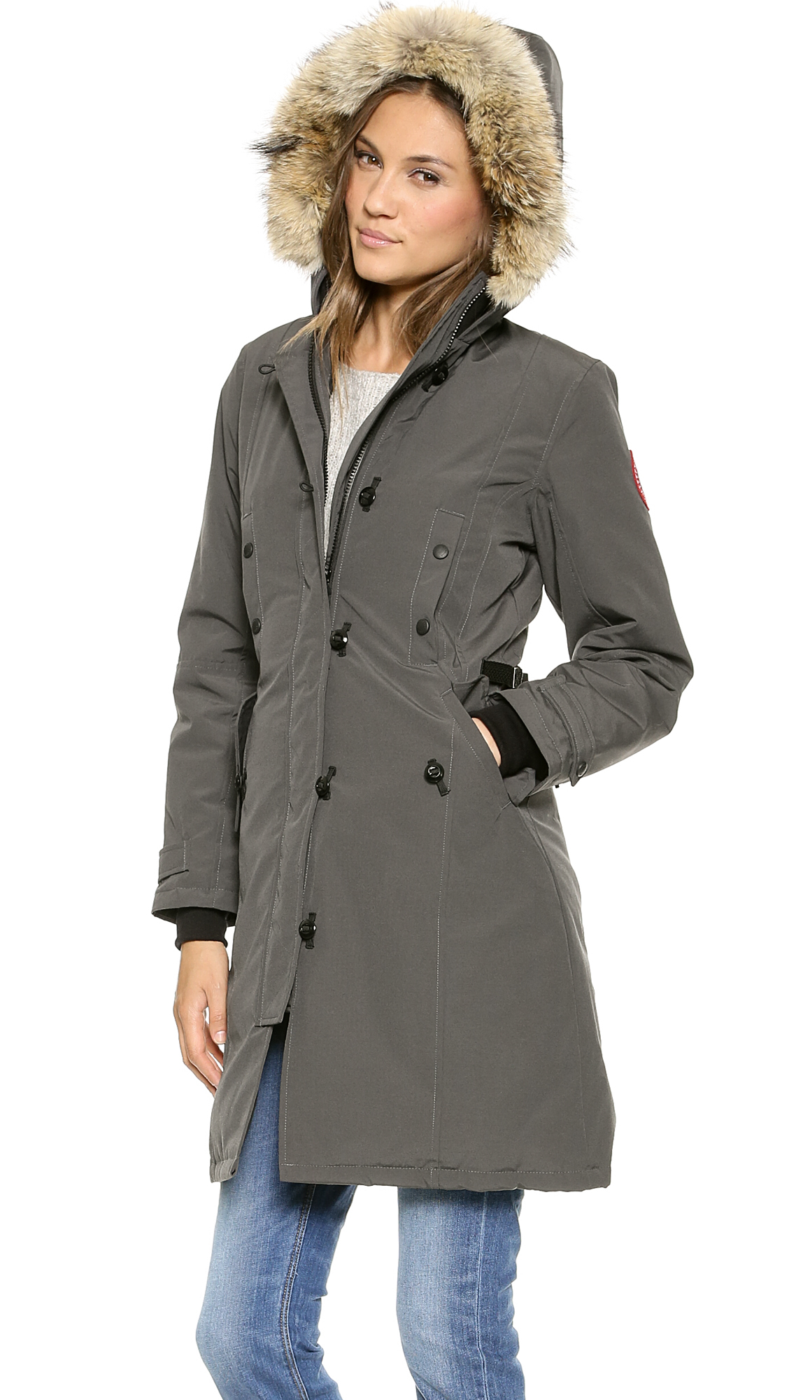 Canada Goose toronto sale official - Canada goose Kensington Parka - Red in Gray (Graphite) | Lyst
