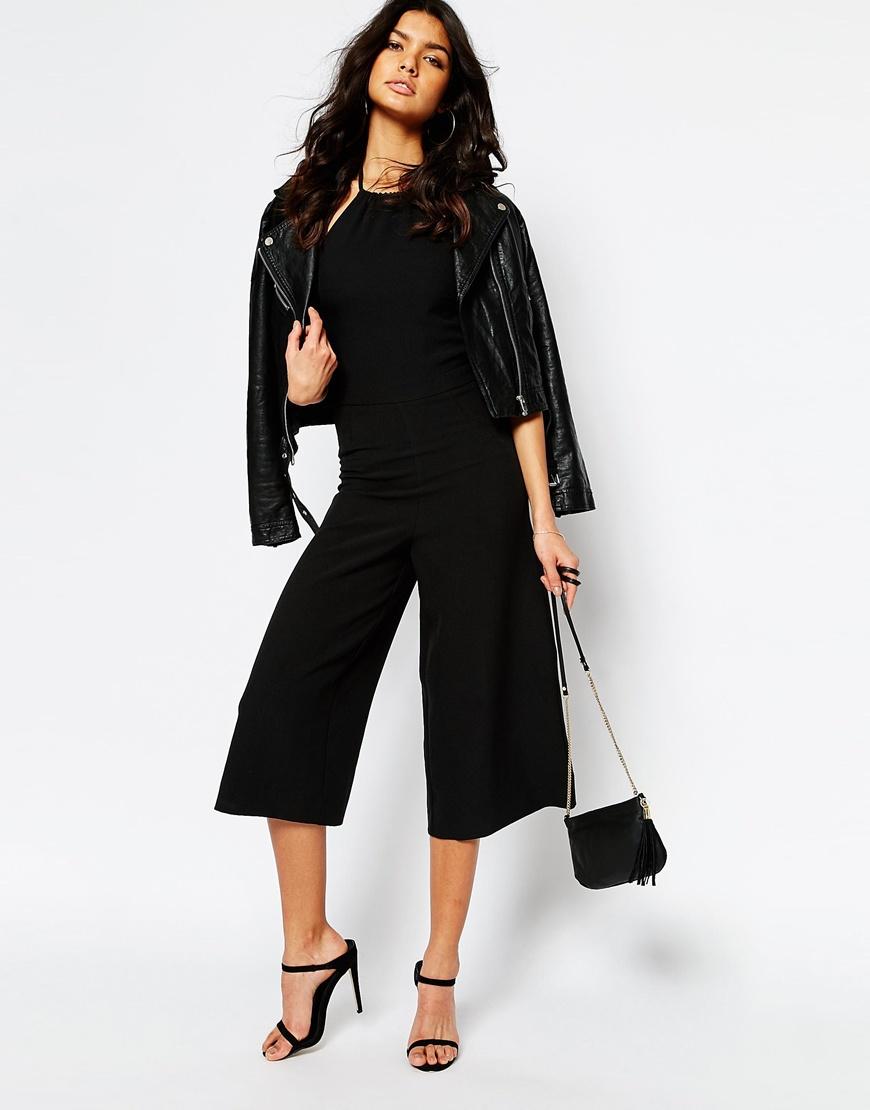 2e986136215e Mango Cut Out Culotte Jumpsuit in Black