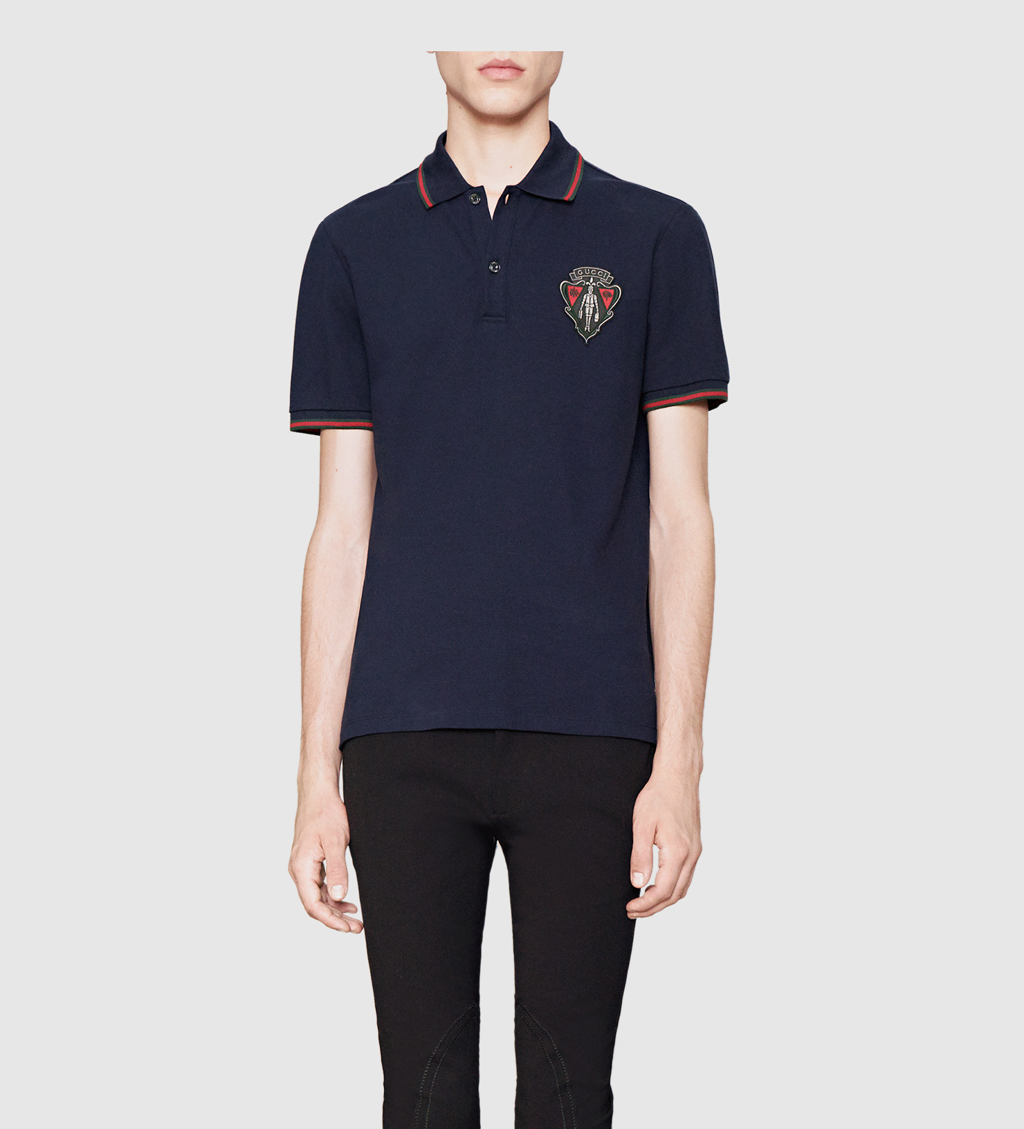 Gucci Polo Shirt From Equestrian Collection In Blue For Men Lyst