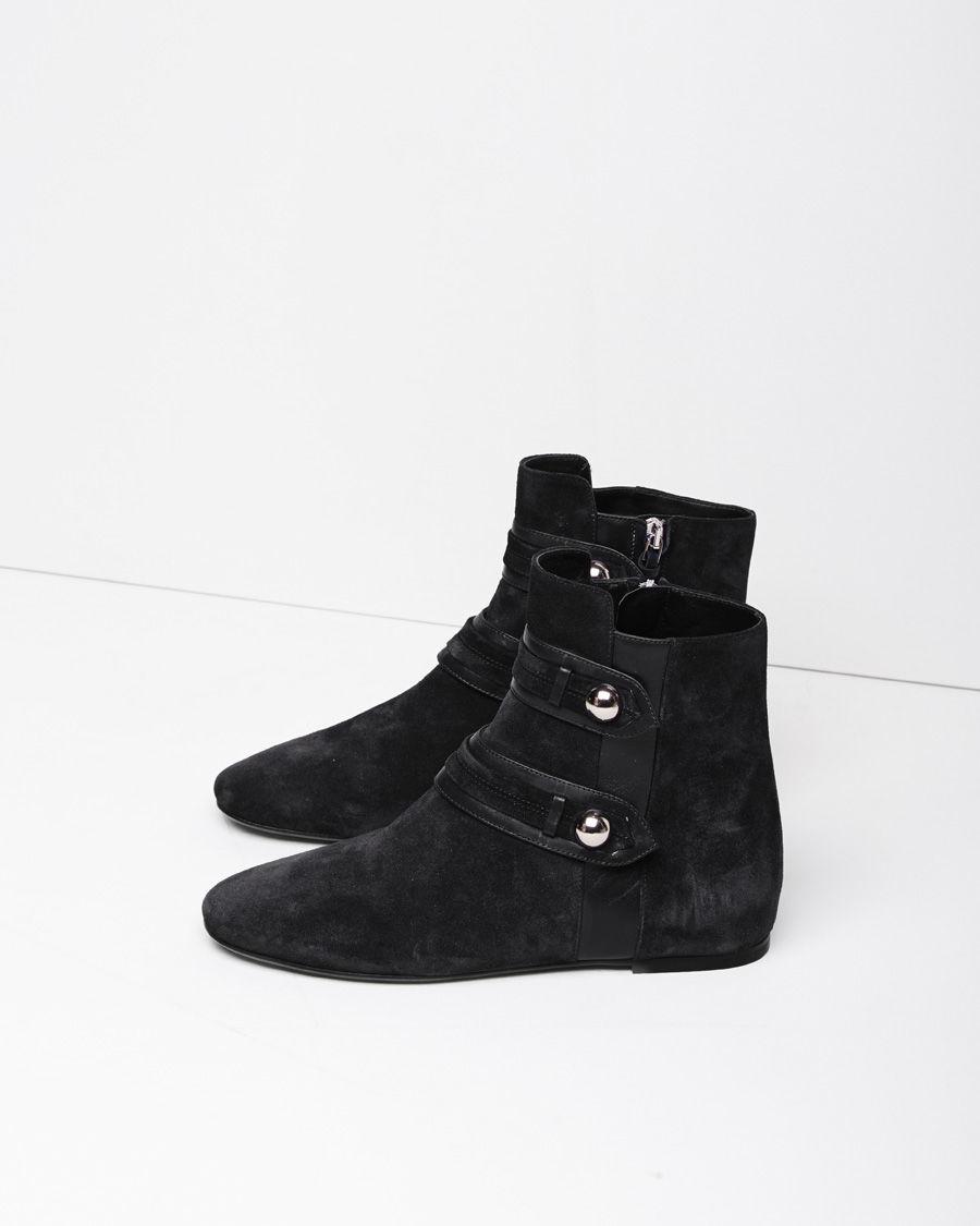 isabel marant roddy suede ankle boots in black lyst. Black Bedroom Furniture Sets. Home Design Ideas