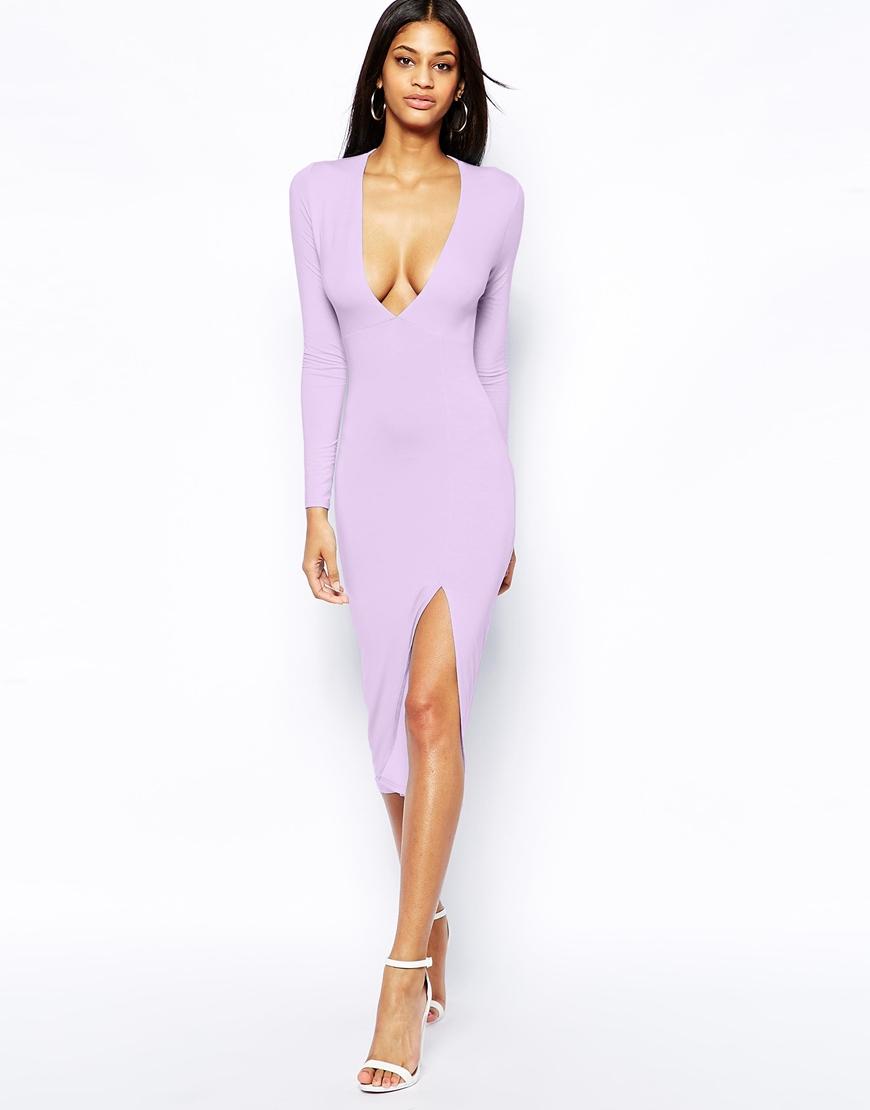 Purple Midi Evening Dresses