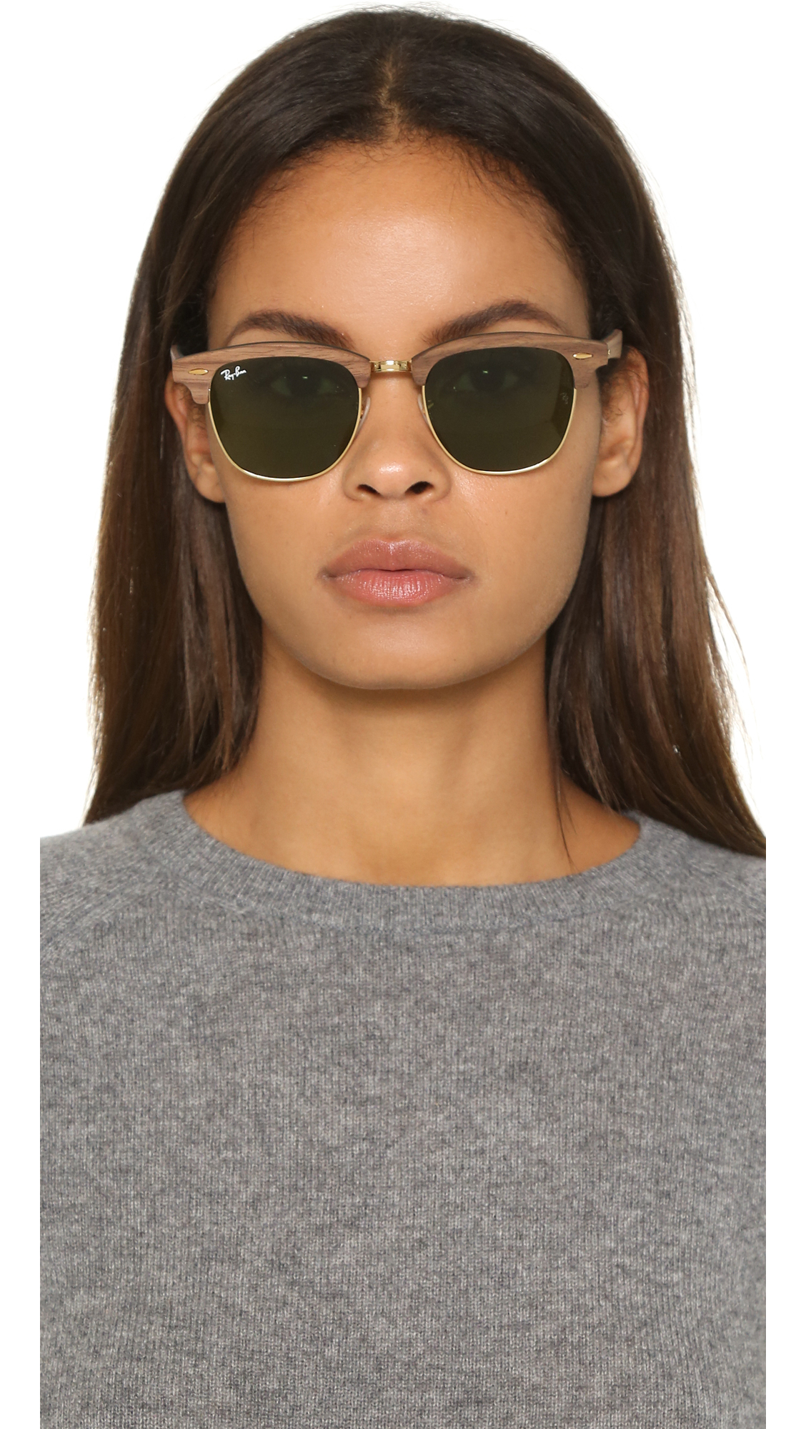 clubmaster acetate sunglasses  Ray-ban Clubmaster Wood Sunglasses in Brown