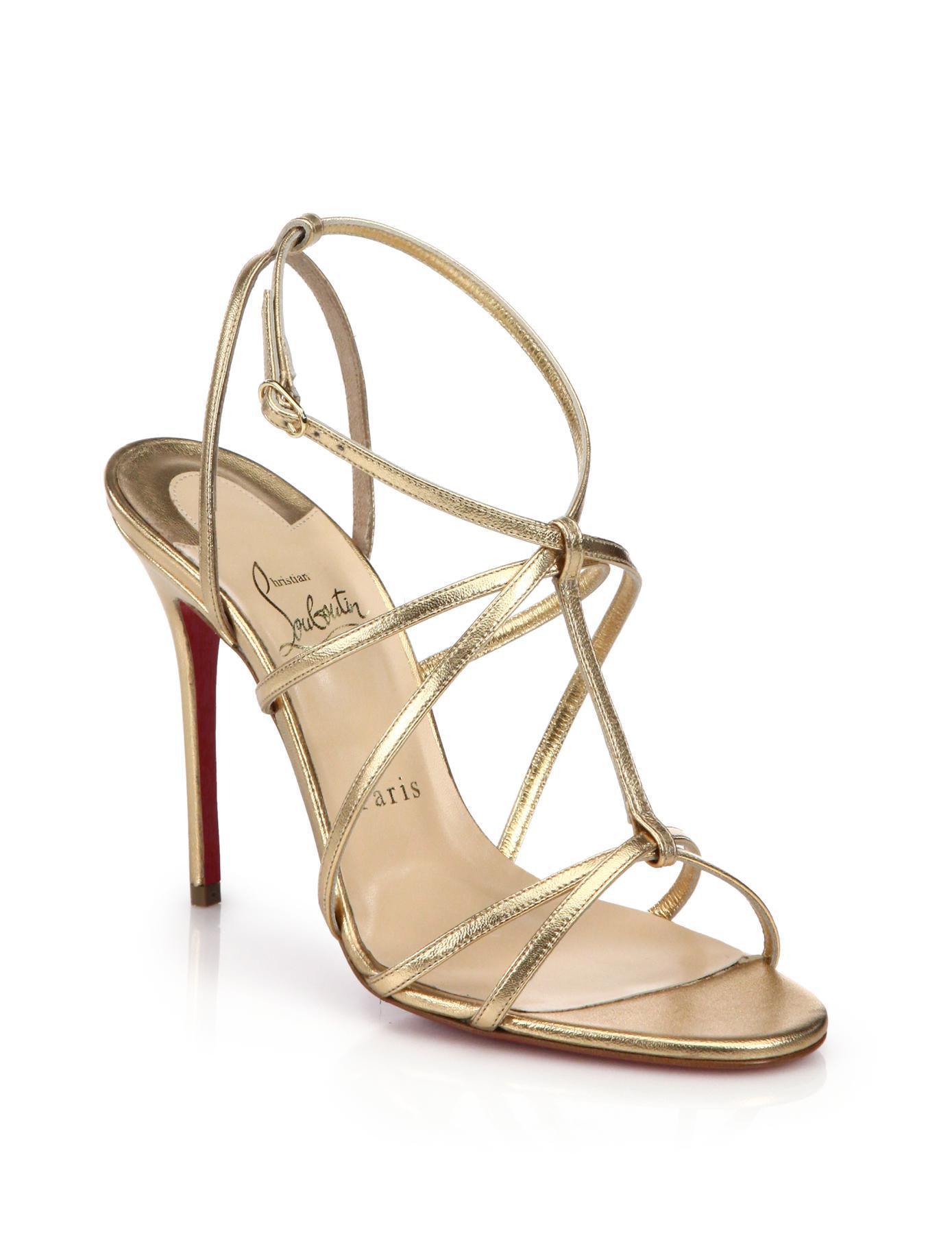 7008940d4420 Lyst - Christian Louboutin Youpiyou Metallic Leather Sandals in Metallic