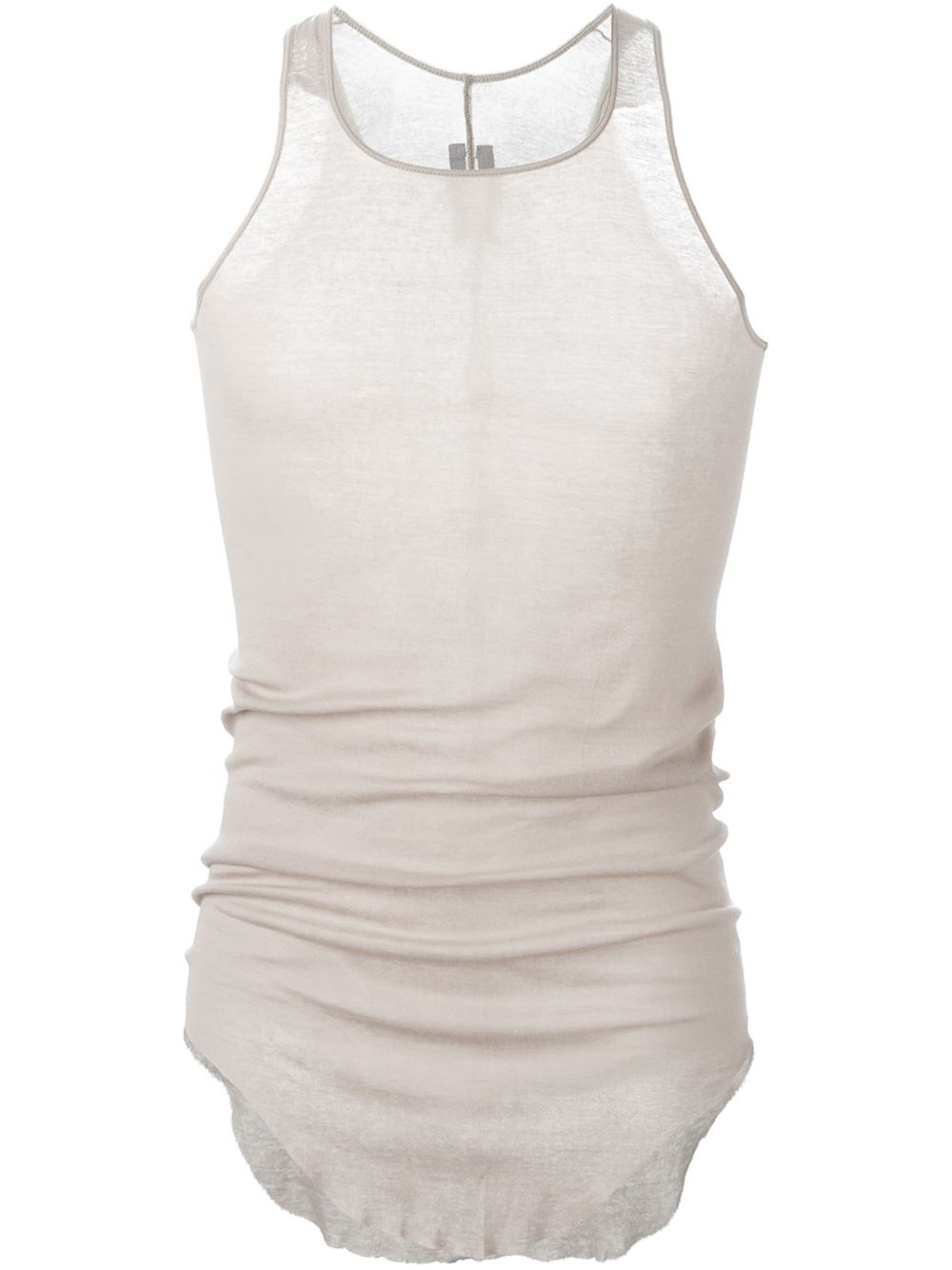 f31bbc409d46e Lyst - Rick Owens Racerback Pearl-Cotton Tank Top in Natural for Men