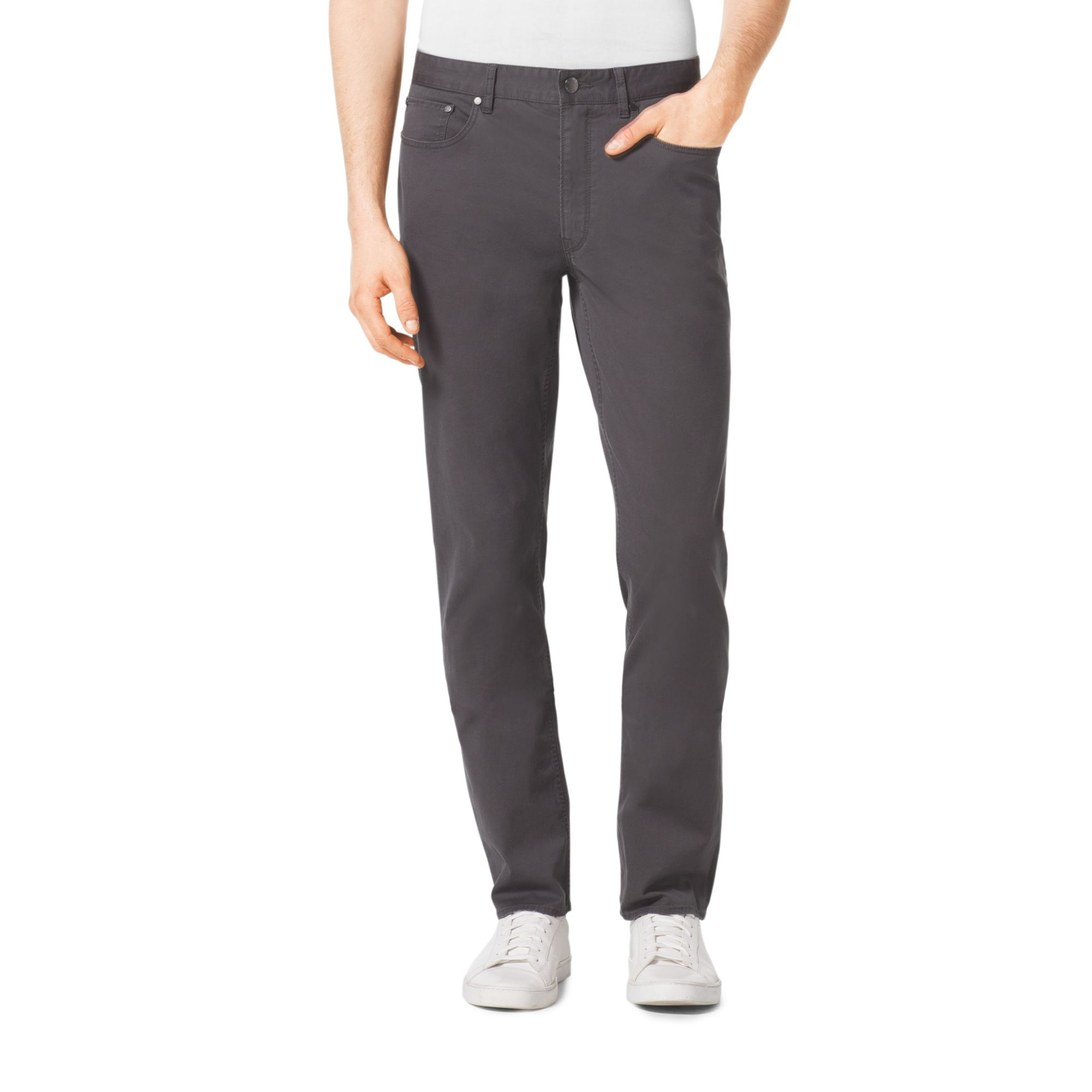 michael kors slim fit jeans in gray for men lyst. Black Bedroom Furniture Sets. Home Design Ideas