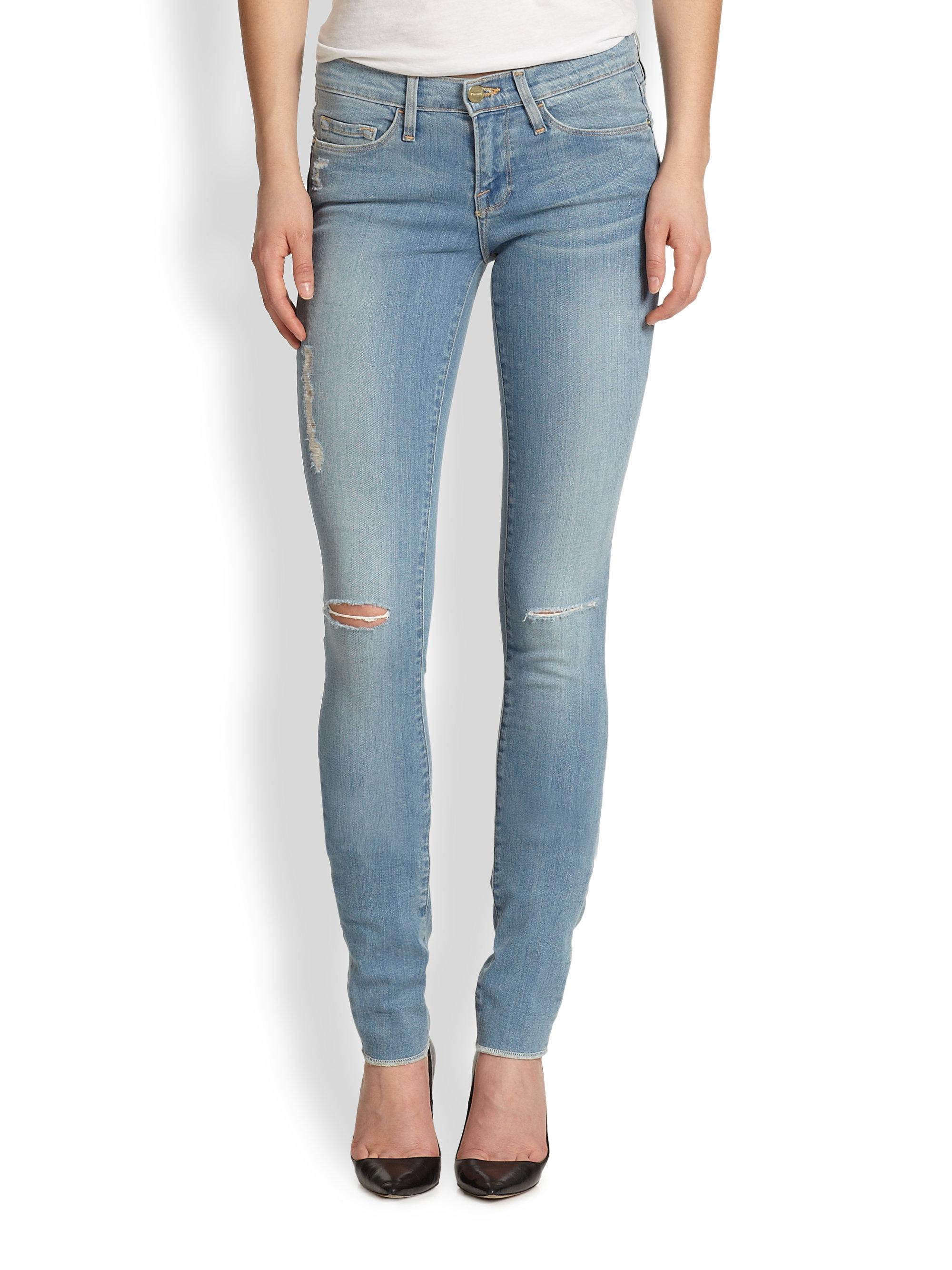 Lyst - Frame Forever Karlie Skinny Jeans in Blue