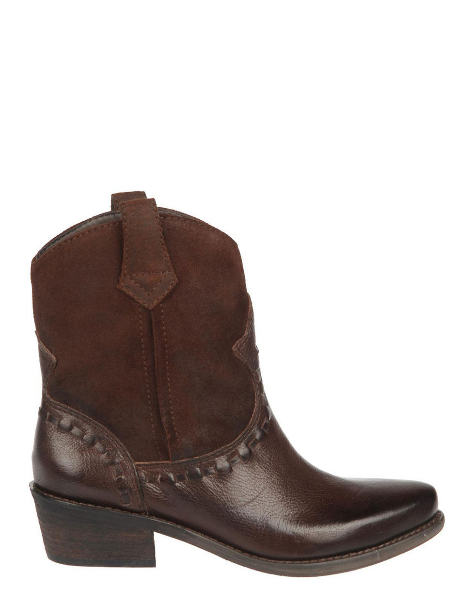 franco sarto window 2 leather boots in brown brown