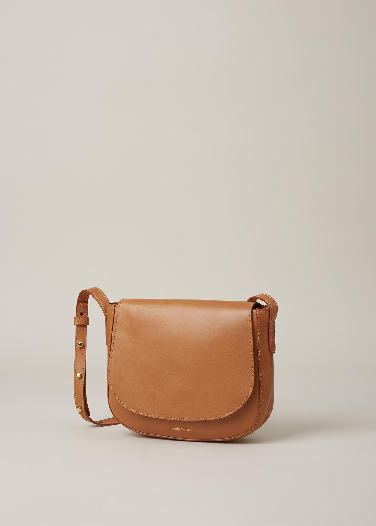 861529833c33 Lyst - Mansur Gavriel Cammello raw Crossbody Bag in Brown