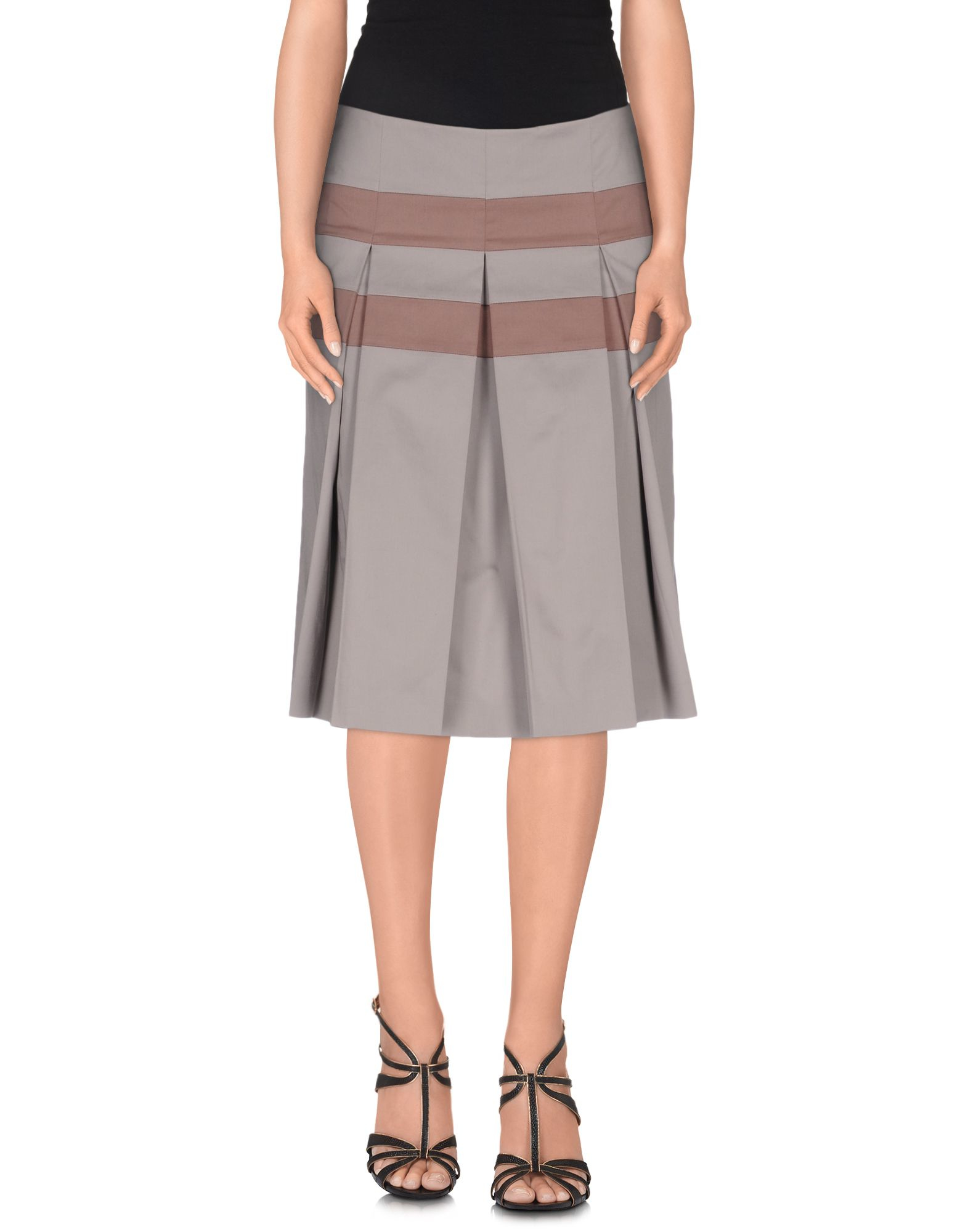 peserico knee length skirt in gray grey save 64 lyst