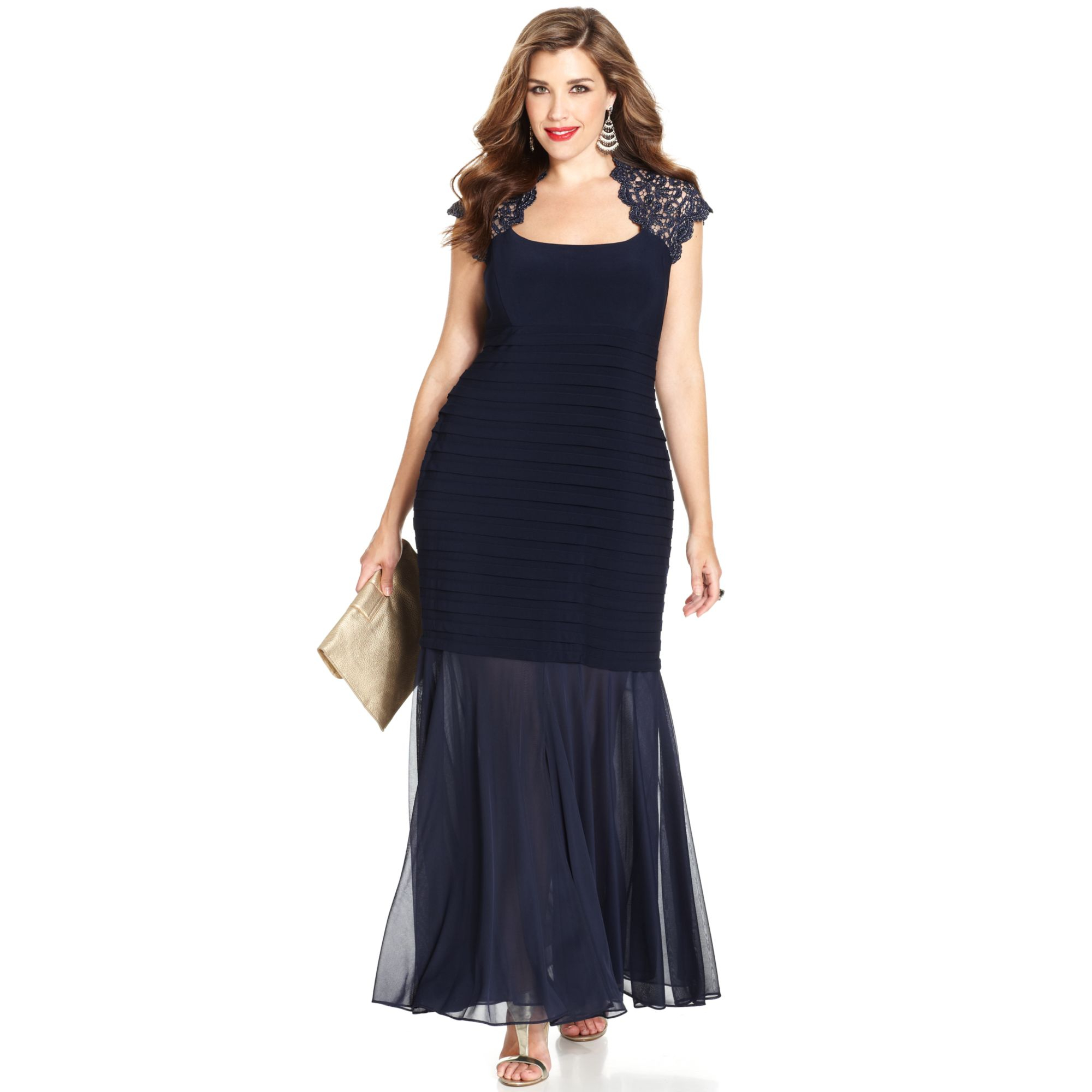 plus size dresses in black