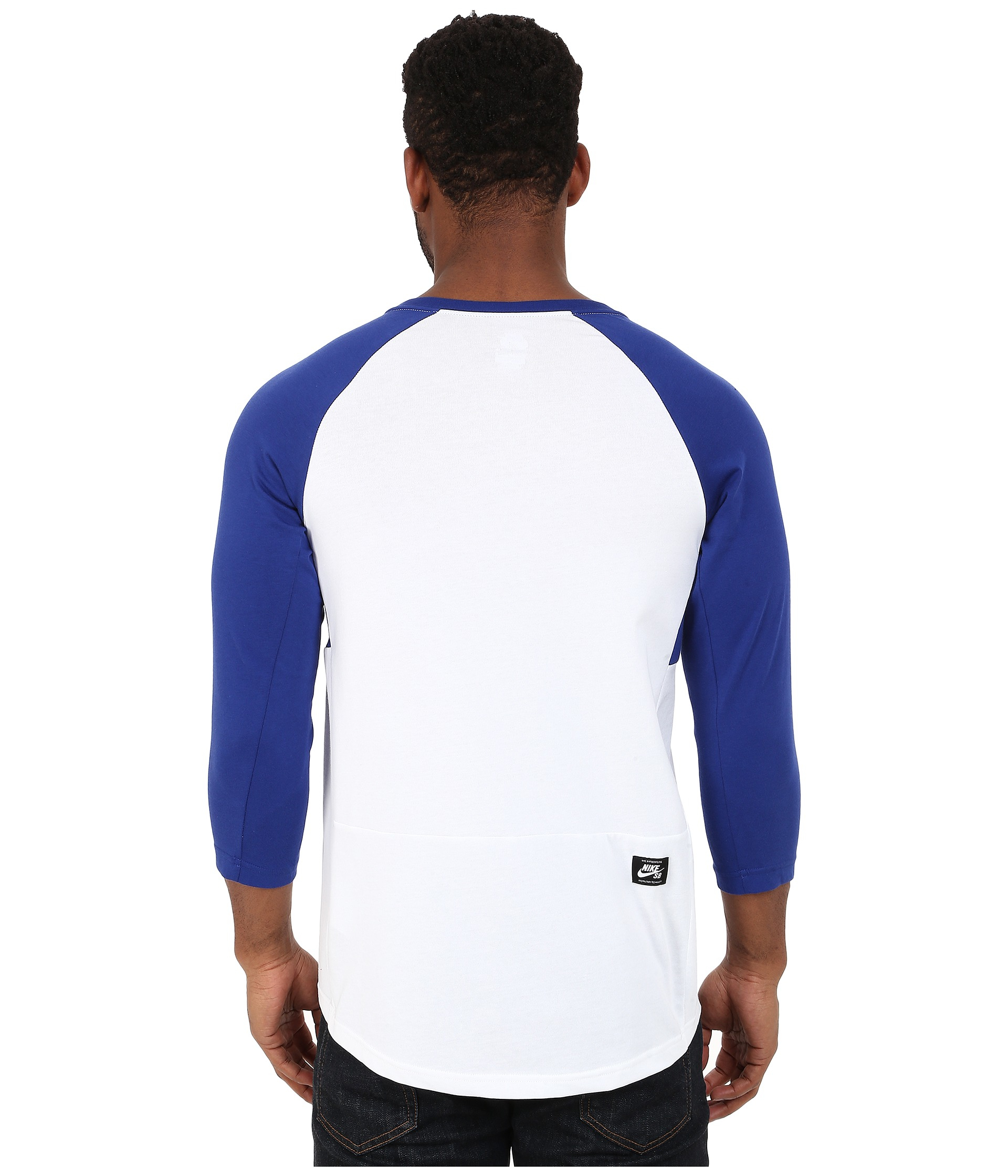 16769bf4 Nike Sb Dri-fit 3/4 Sleeve Henley Top in Blue for Men - Lyst
