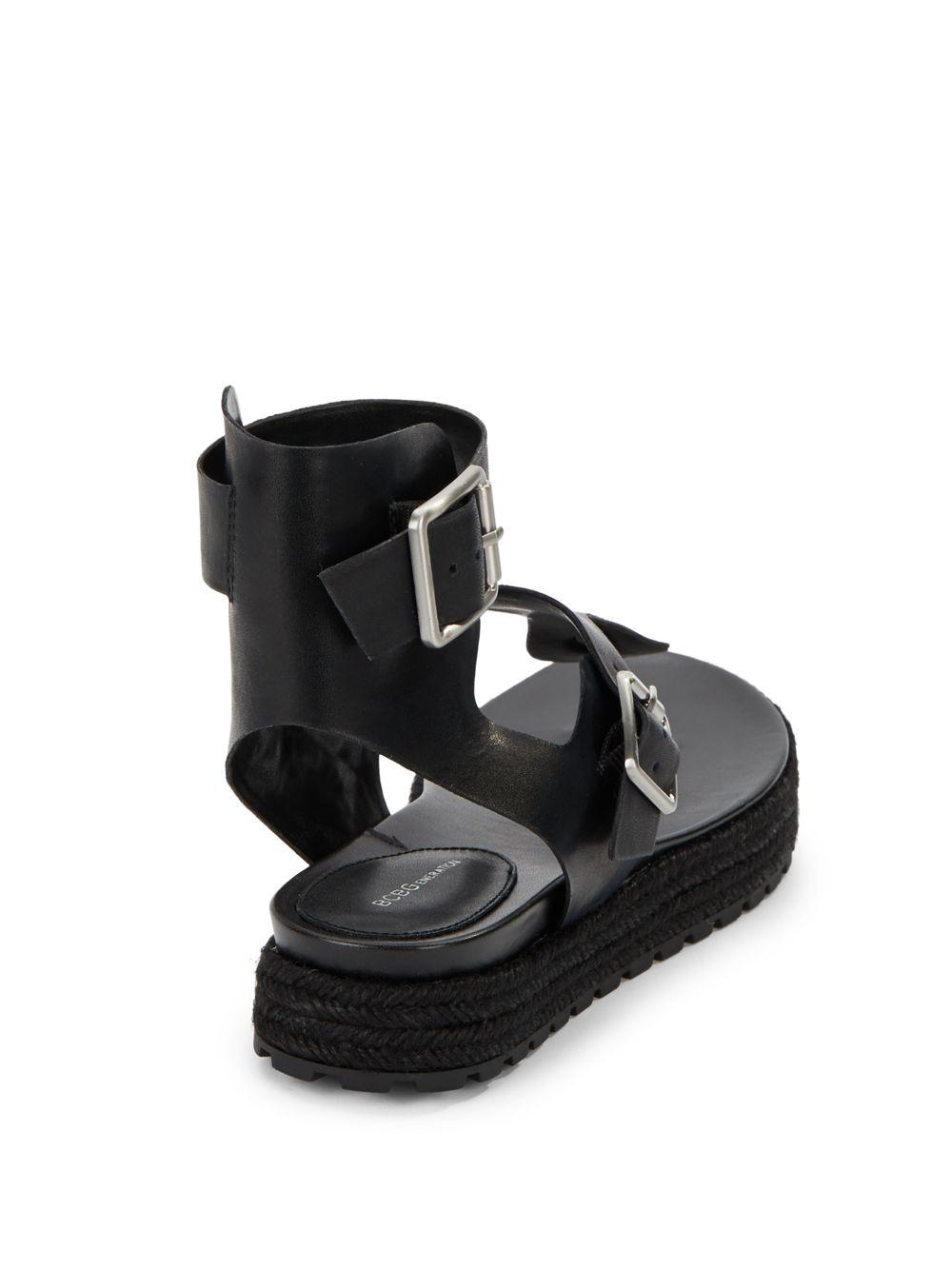 e3b1fcaf48b5 Lyst - BCBGeneration Edmund Leather Platform Thong Sandals in Black