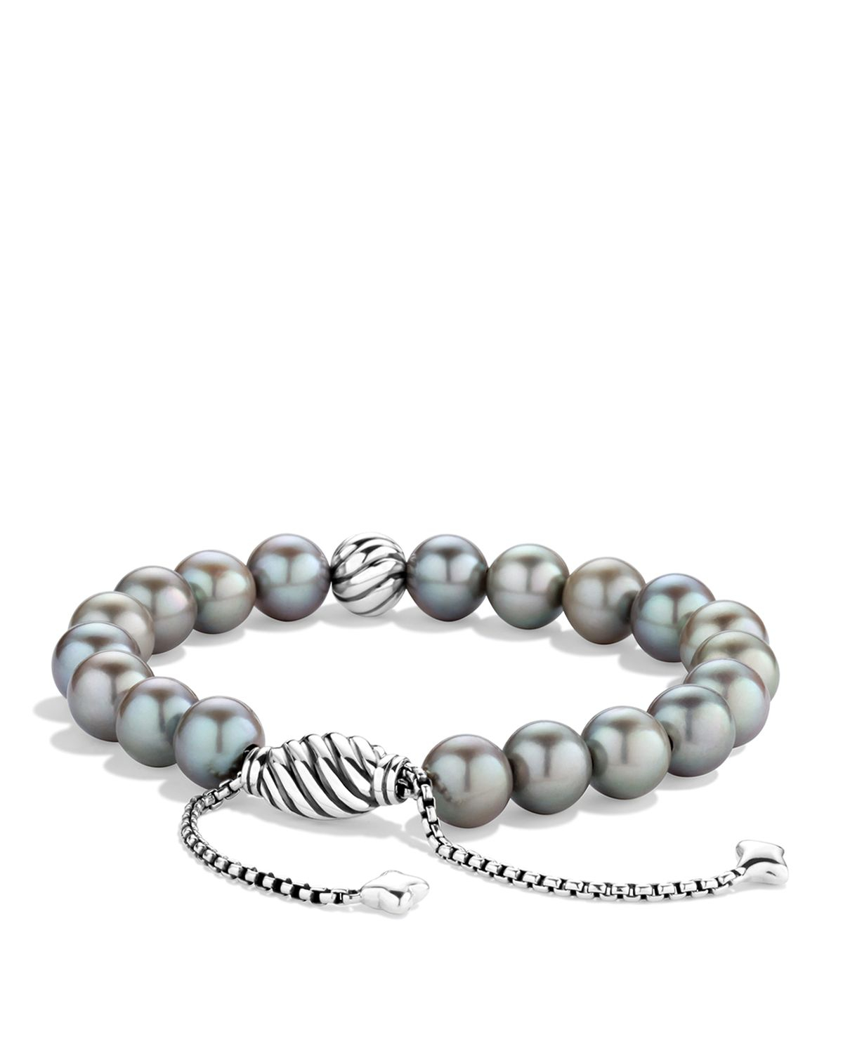 david yurman spiritual bracelet with gray pearls in
