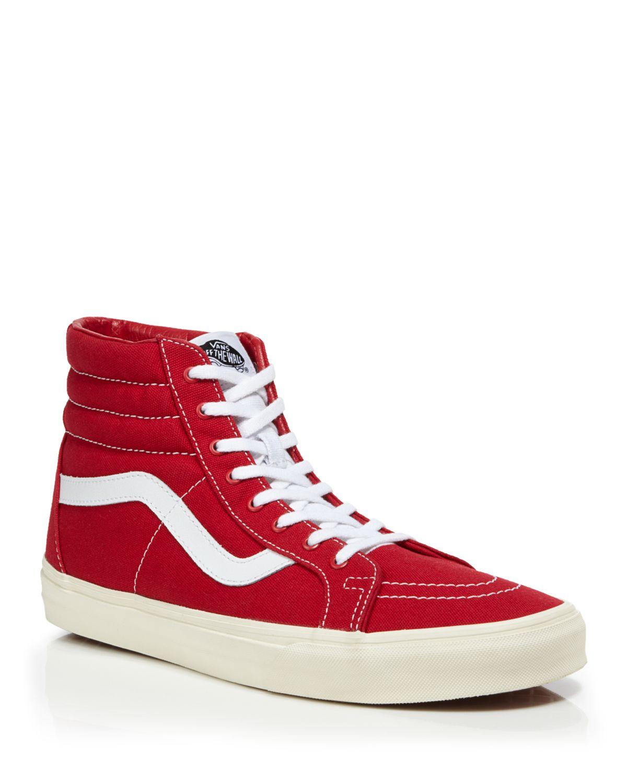 vans sk8 hi reissue sneakers in red for men tango red lyst. Black Bedroom Furniture Sets. Home Design Ideas