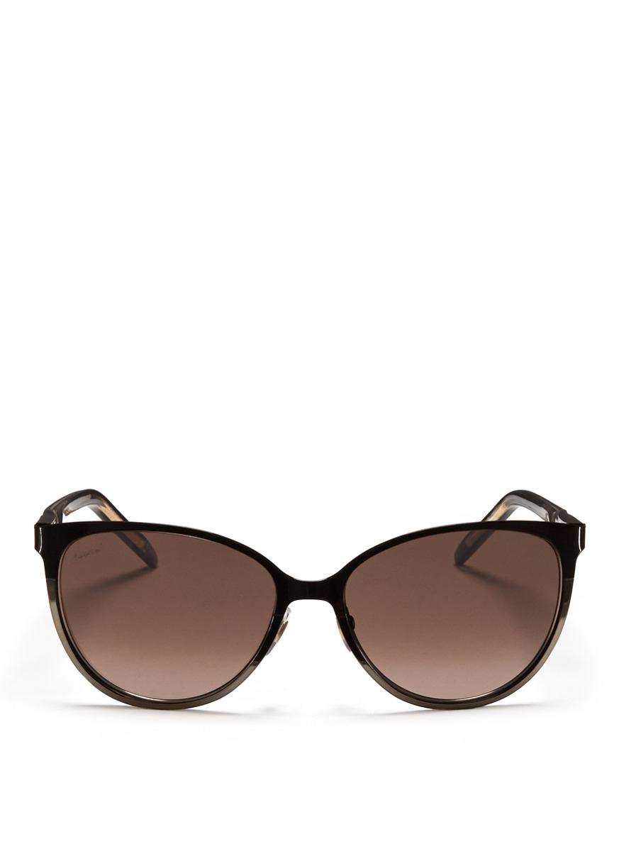 Lyst Gucci Twist Temple Two Tone Metal Sunglasses In