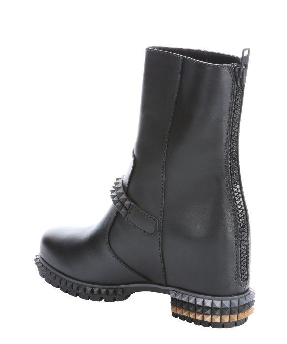 Fendi Leather Biker Boots w3Kmpy