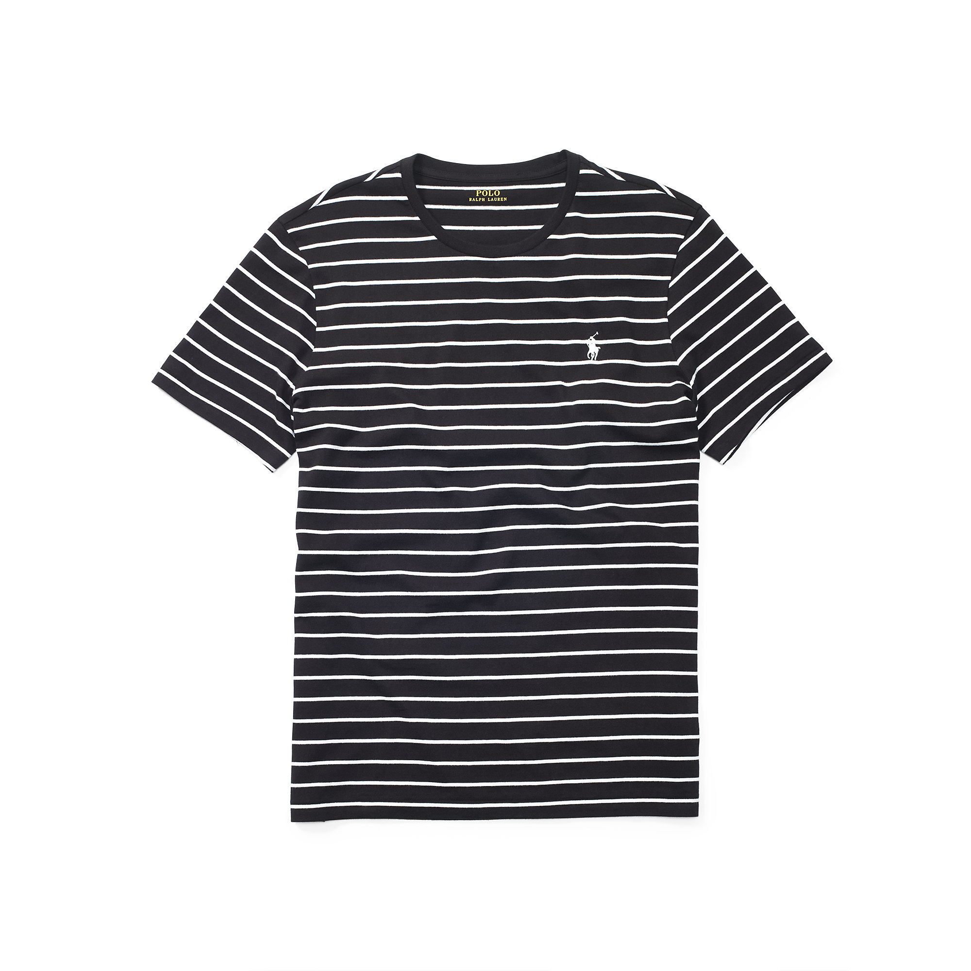 Polo ralph lauren Striped Cotton Jersey T-shirt in Black ...