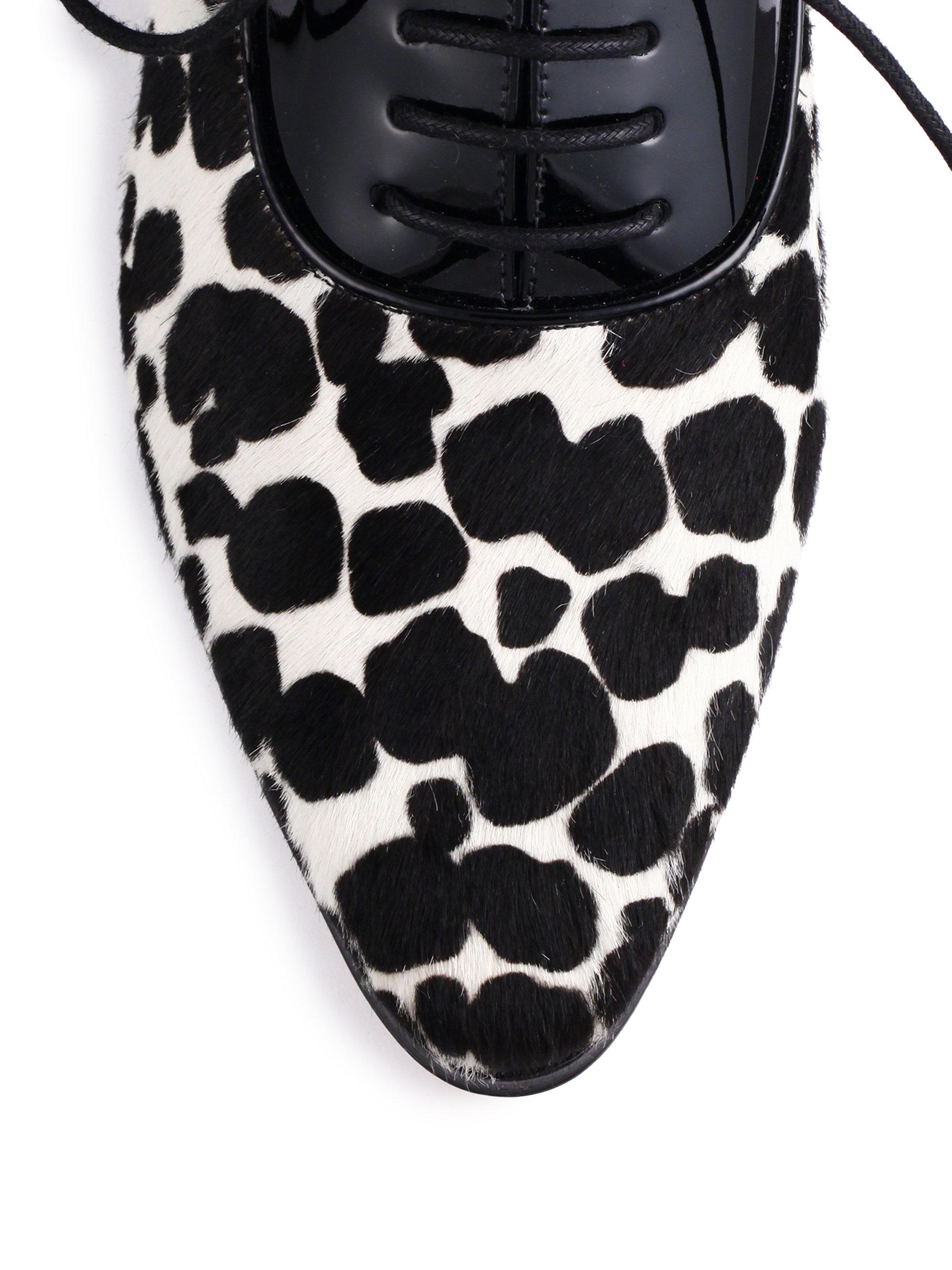 Michael Kors Lottie Cheetah Print Calf Hair Amp Patent