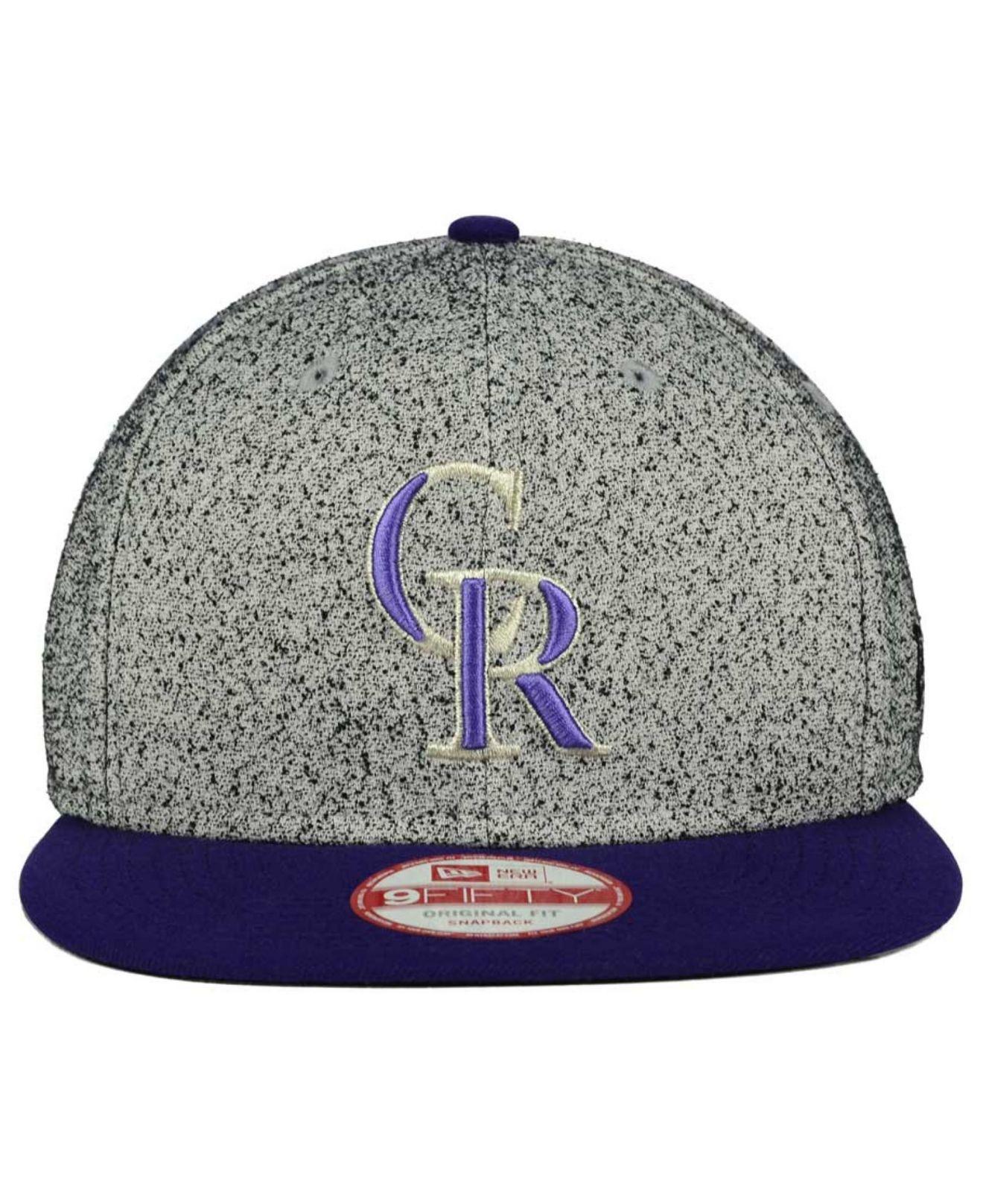 brand new 030bf c6015 ... best price lyst ktz colorado rockies spec 9fifty snapback cap in gray  for men 36593 b01e2