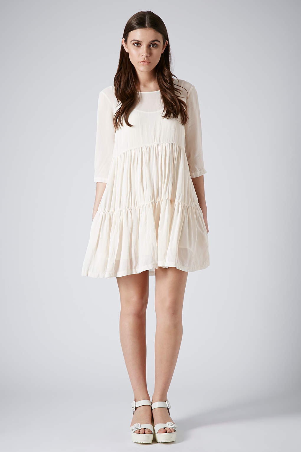 Pink and White Tiered Dress_Other dresses_dressesss