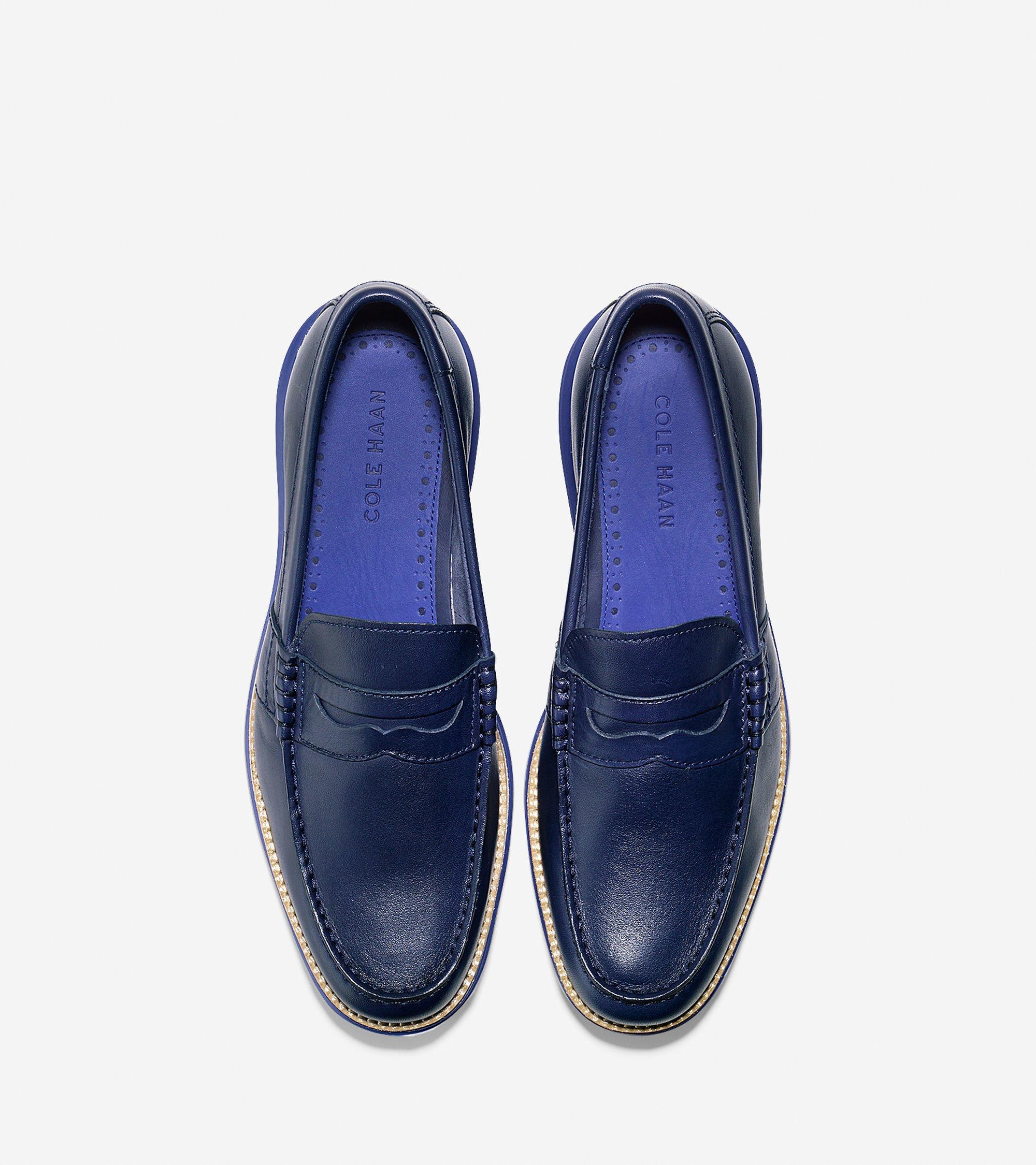 Lyst - Cole Haan Lunargrand Penny Loafer in Blue for Men