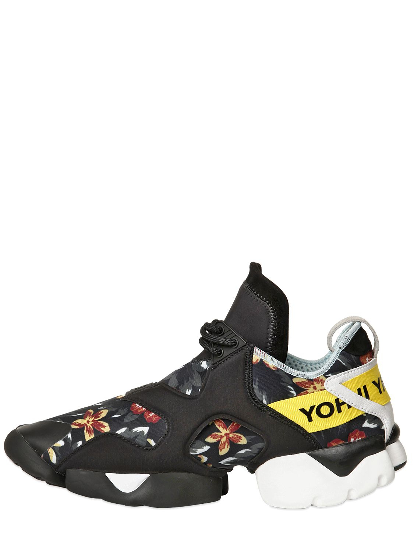 d5ed4055faf04 Y-3 Kohna Printed Neoprene Sneakers in Black for Men - Lyst