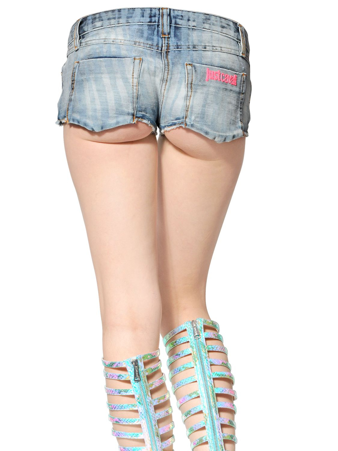 Stretch Denim Shorts - Trendy Clothes